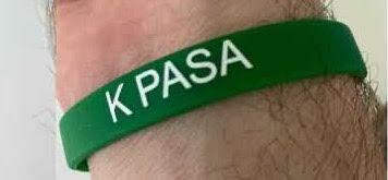 K Pasa vaccination wristband.