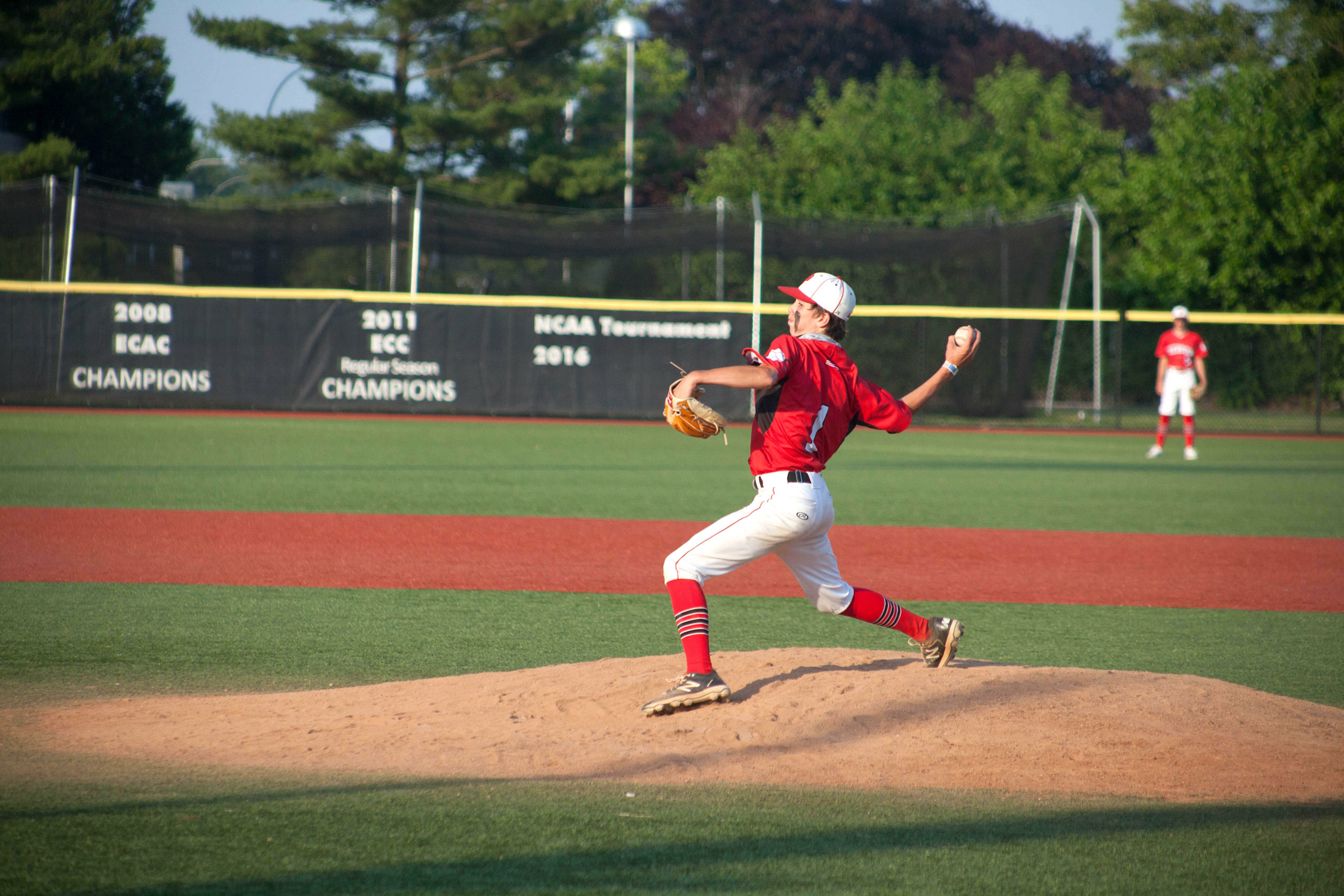 Pierson freshman Dominick Mancino hurls a pitch.