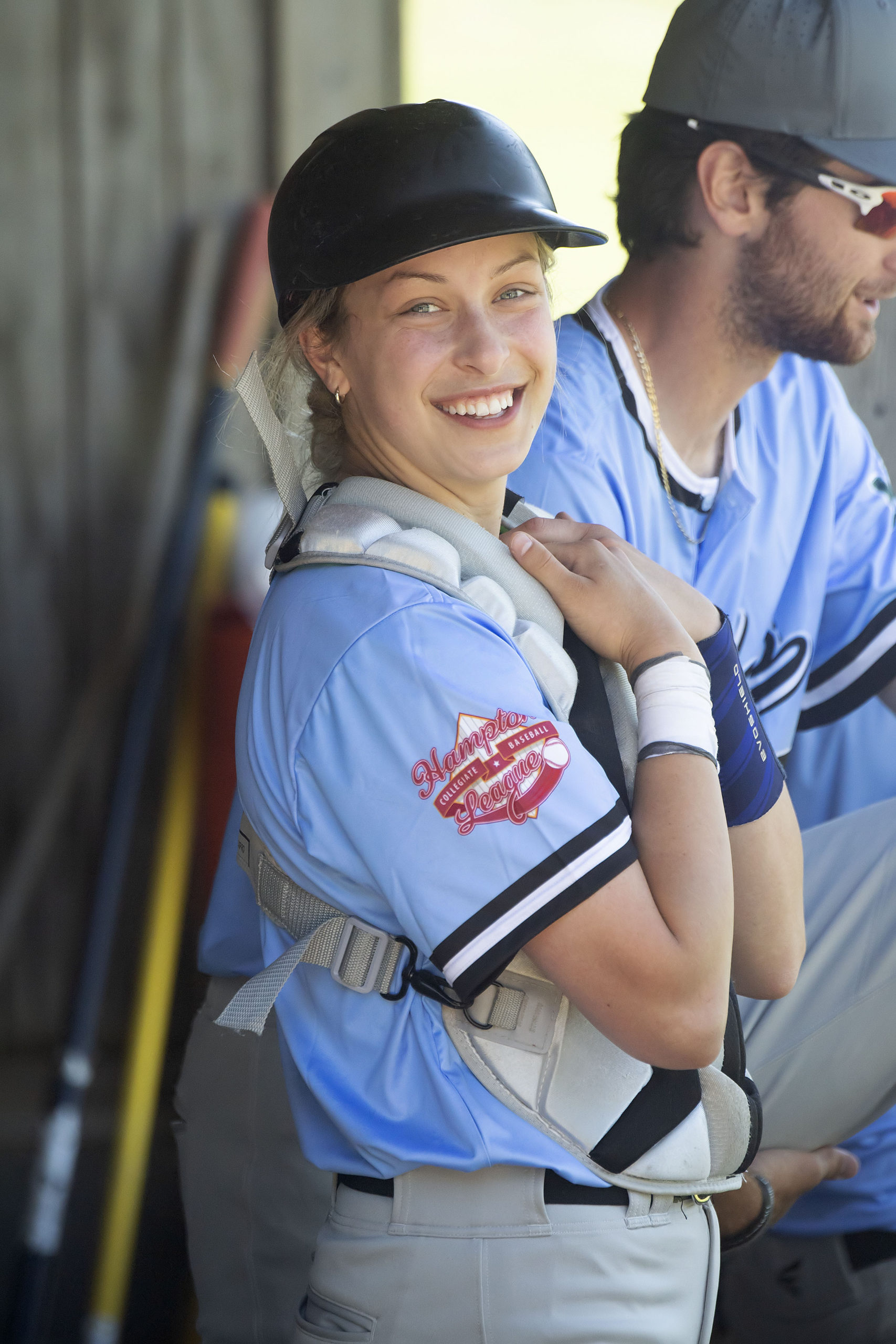 Marika Lyszczyk, who just finished her freshman year at Rivier University in New Hampshire, is the first woman to play baseball at the NCAA level.  MICHAEL HELLER