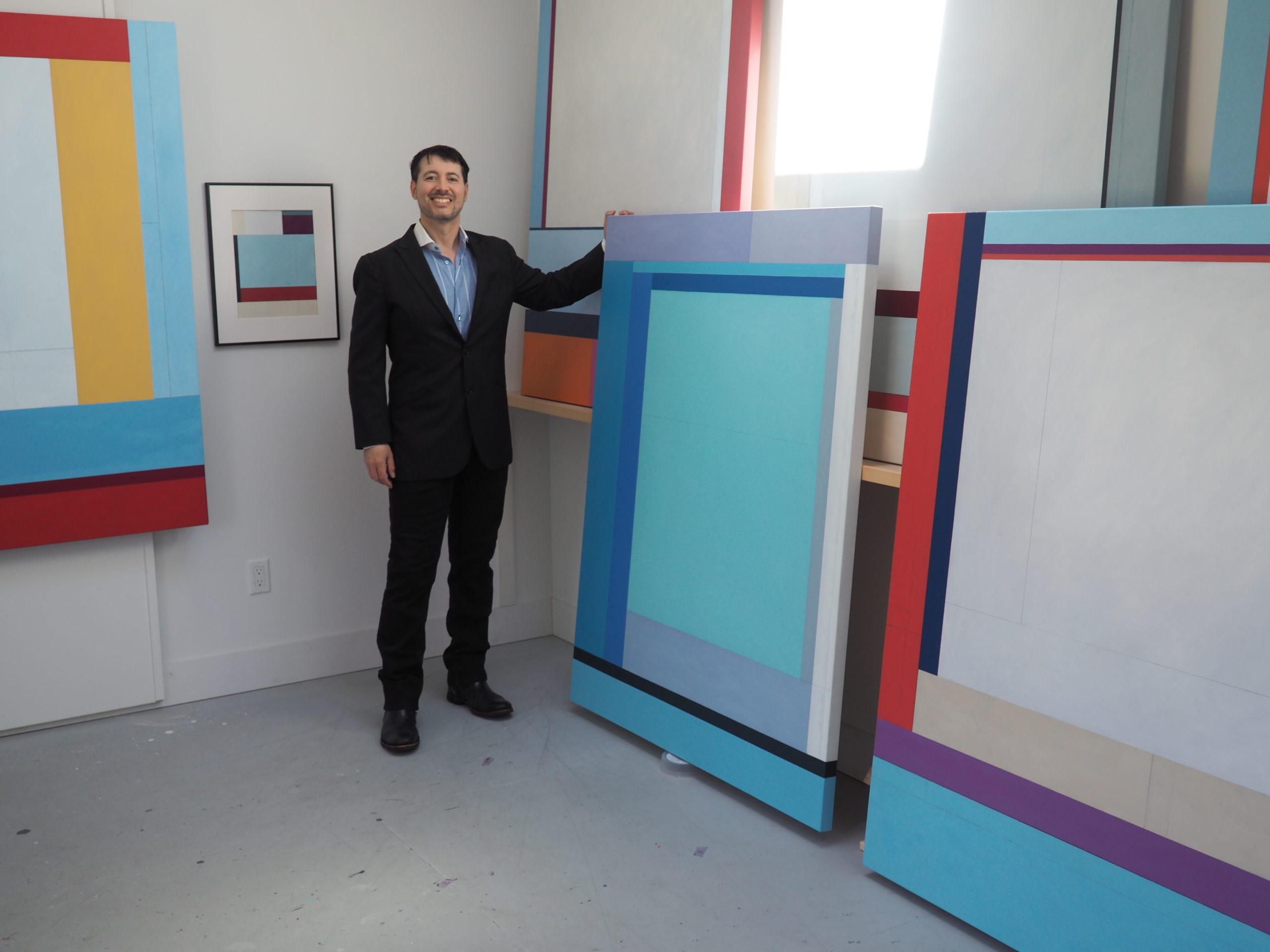 Chris Kelly in his studio.