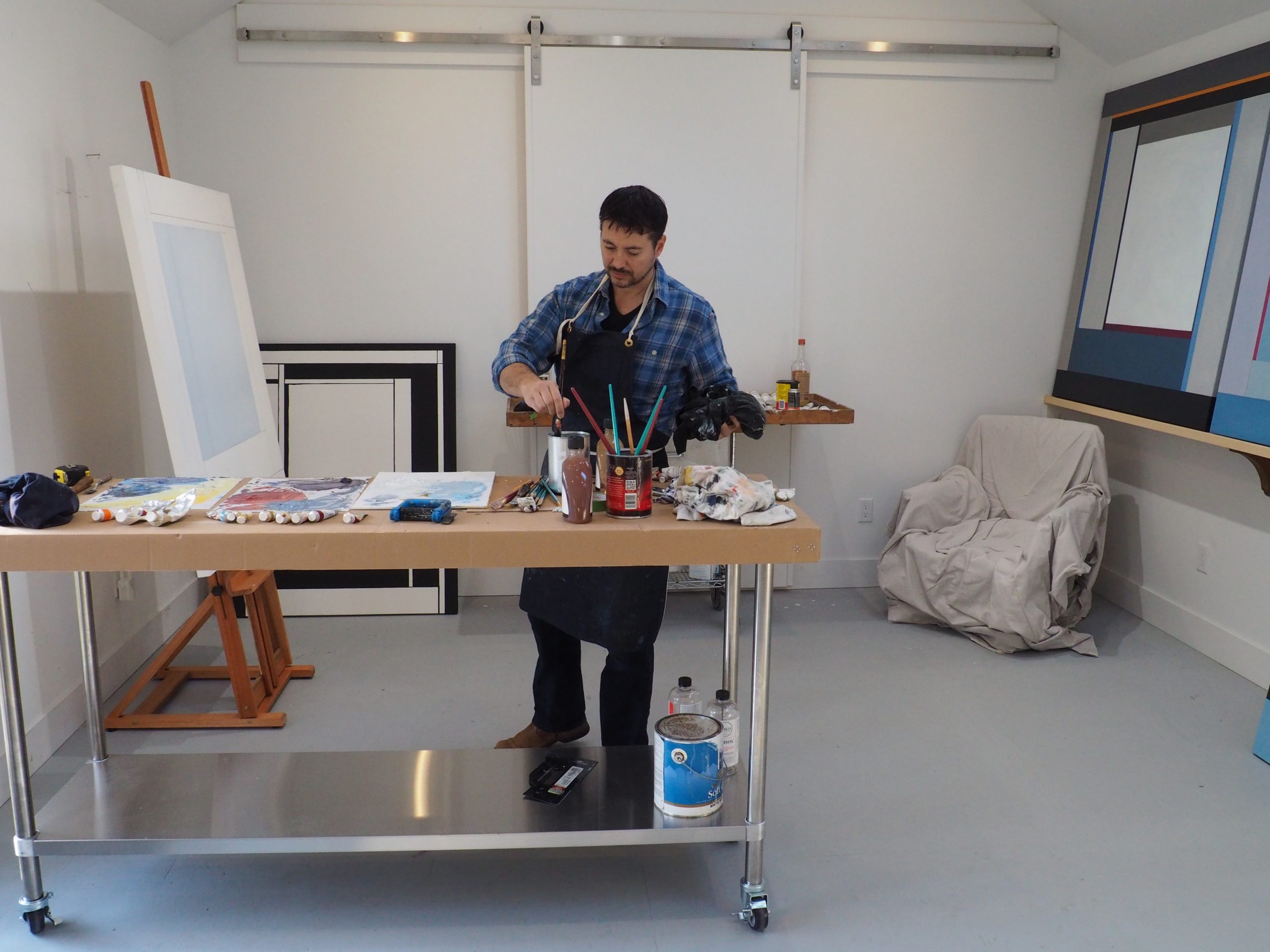 Chris Kelly at work in the studio.
