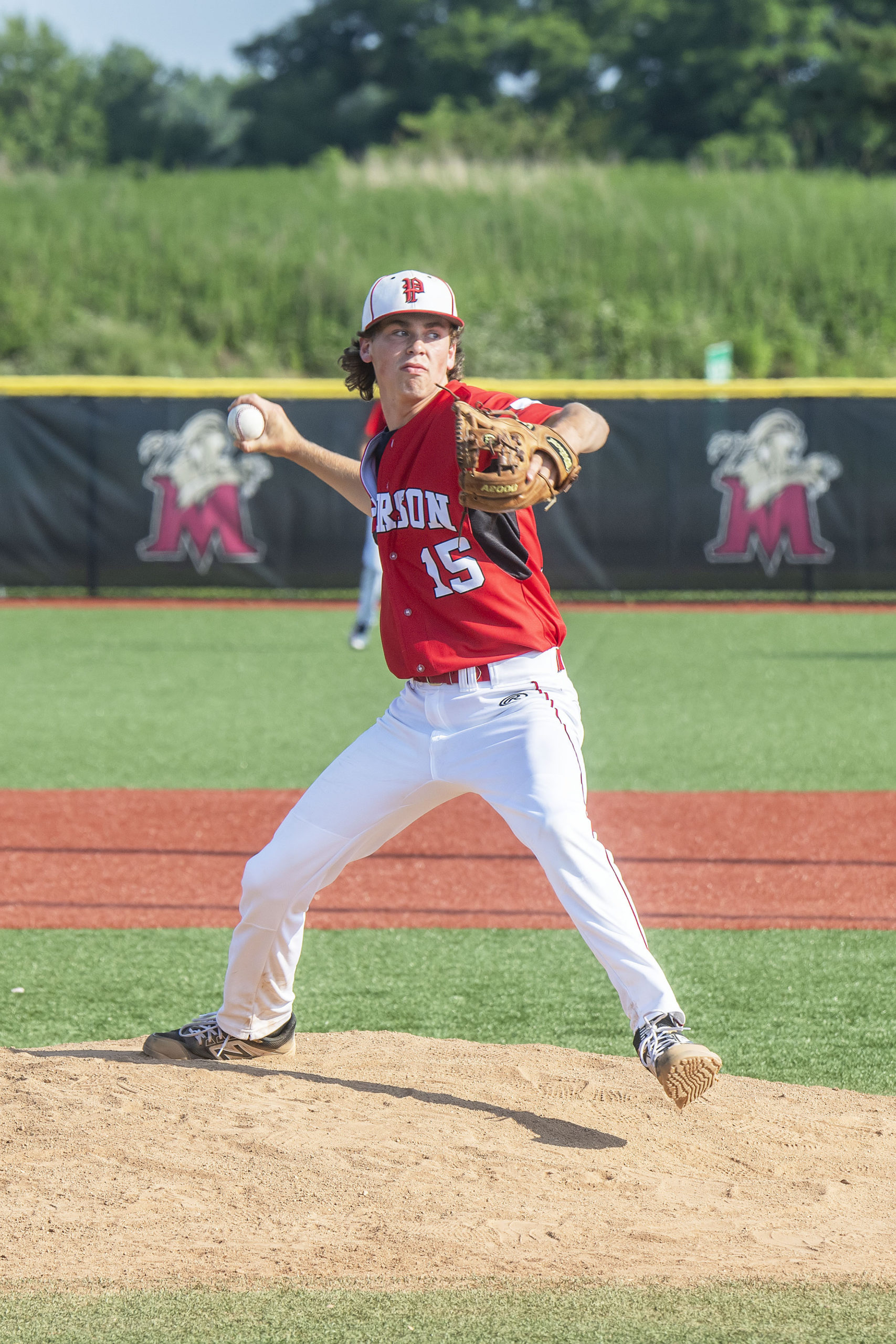Daniel Labrozzi started on the mound for Pierson in Sunday's Long Island Championship at Mitchel Field in Hempstead.