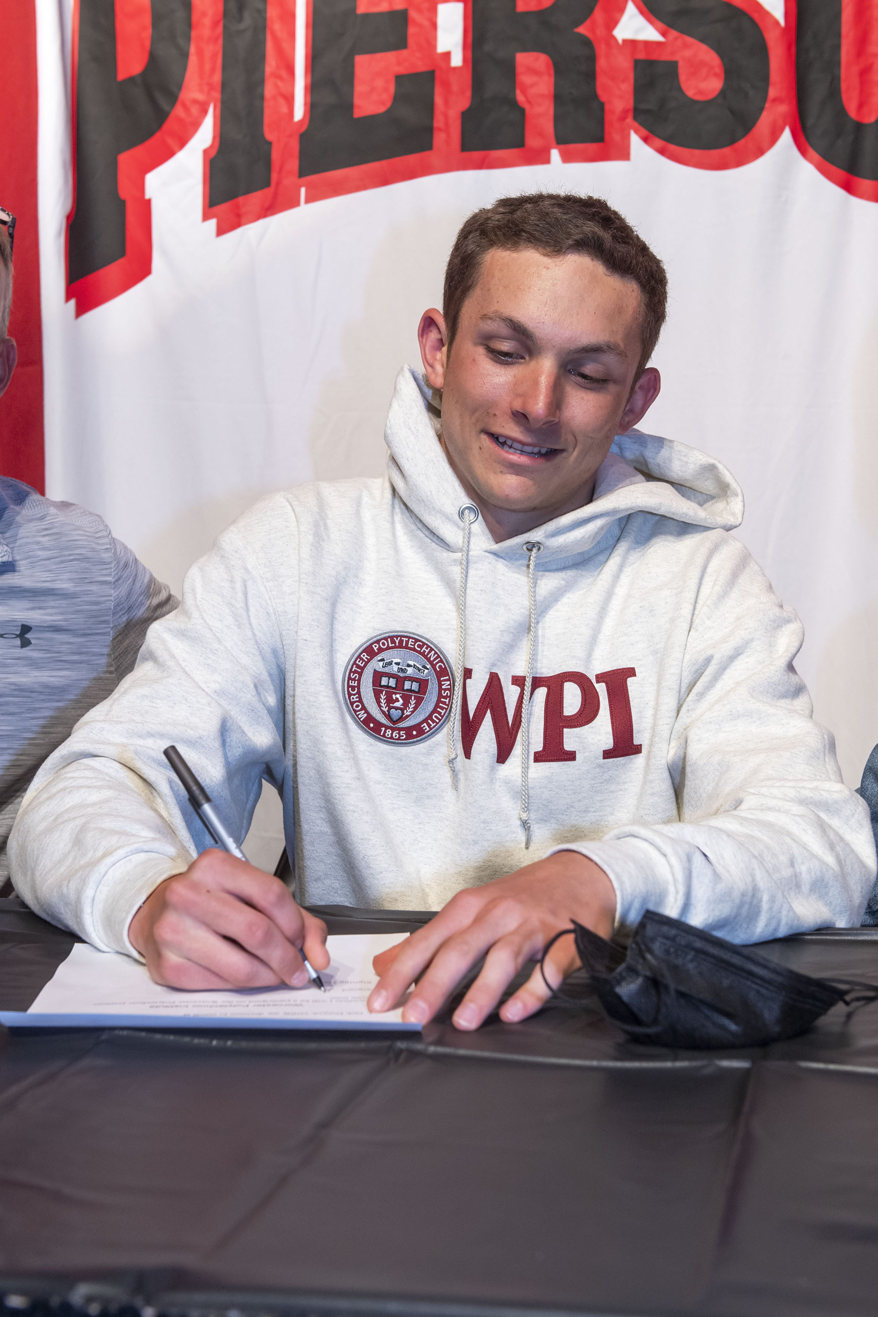 Pierson senior Jack Duryea signed his letter of intent to swim at Worcester Polytechnic Institute in early May.