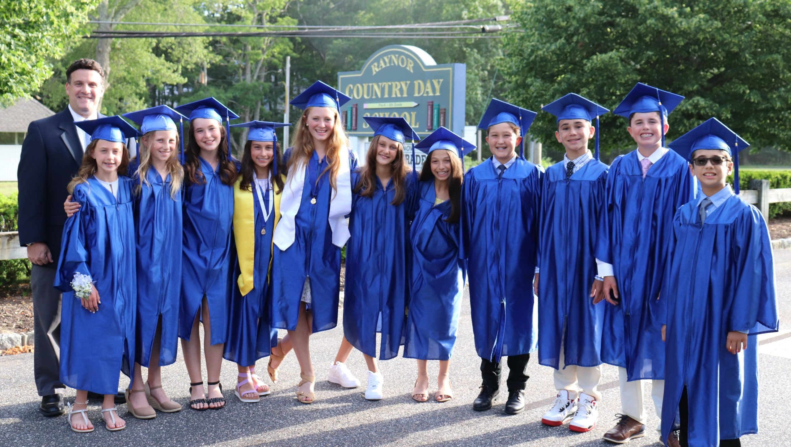 The Raynor Country Day School recently celebrated its sixth-grade graduating class last week.