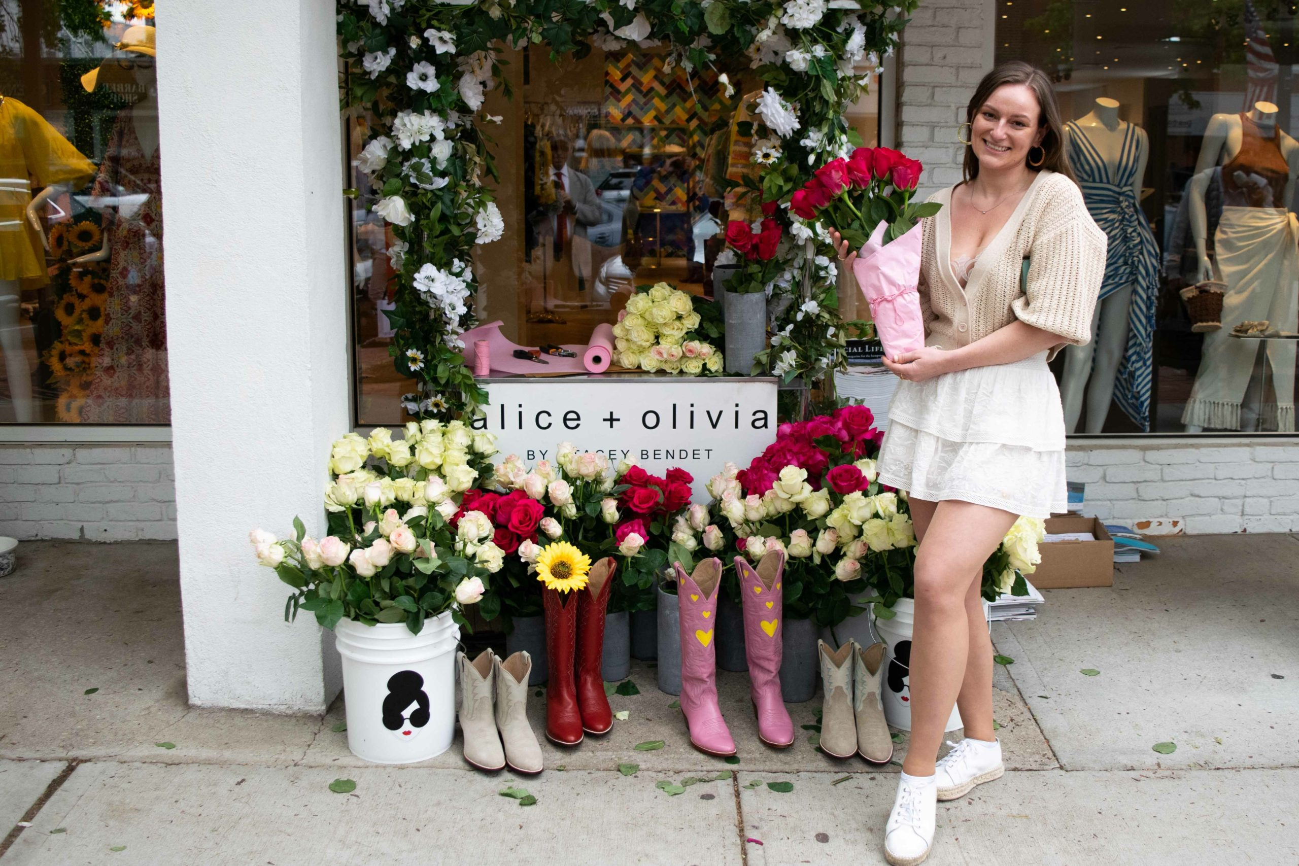 Alice & Olivia took first place at the first annual Southampton Rose Day event held earlier this month in celebration of the village flower, the rose.