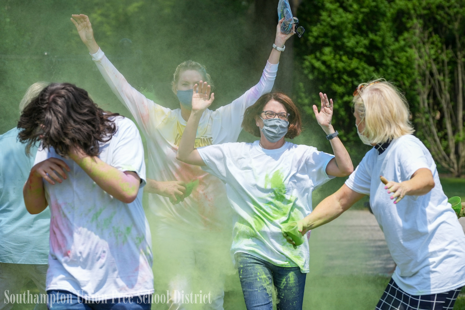 Southampton High School students culminated a month-long mental health awareness initiative with a color run.