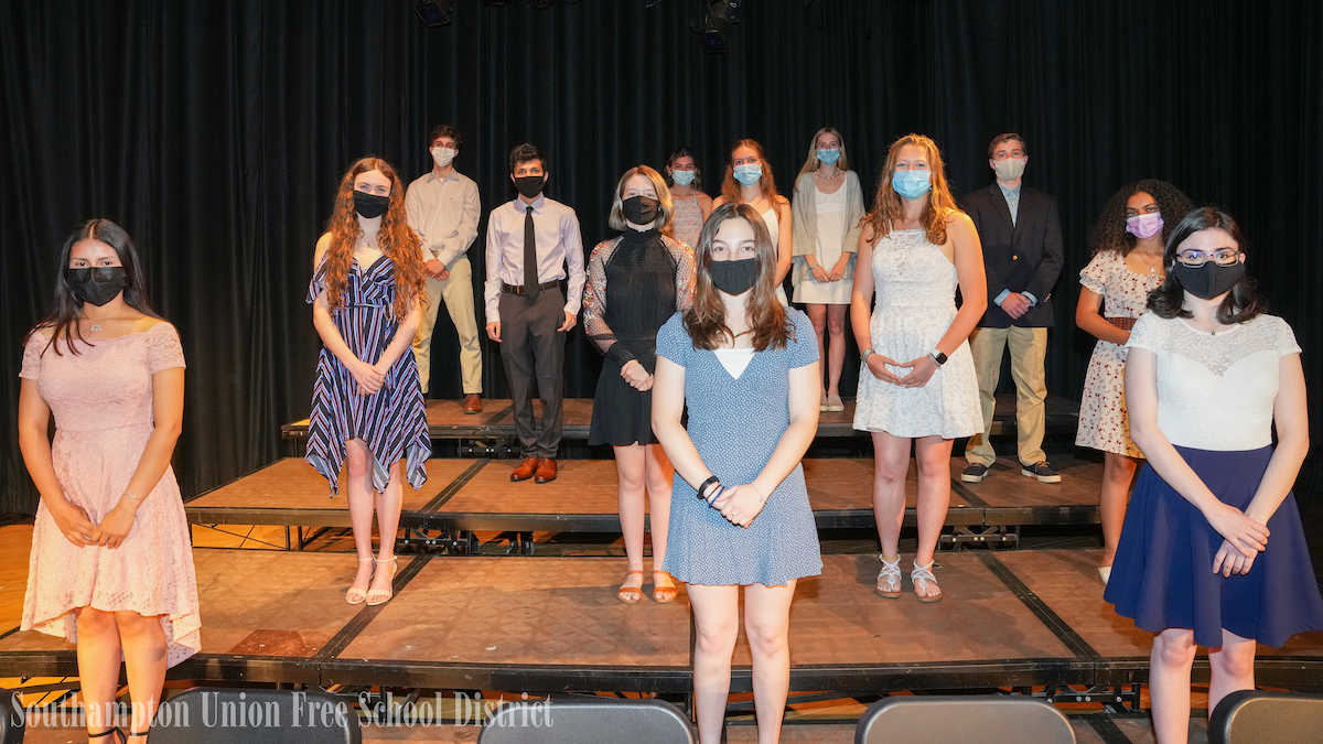 Fifty-one Southampton High School juniors and seniors were recently inducted into the National Honor Society.