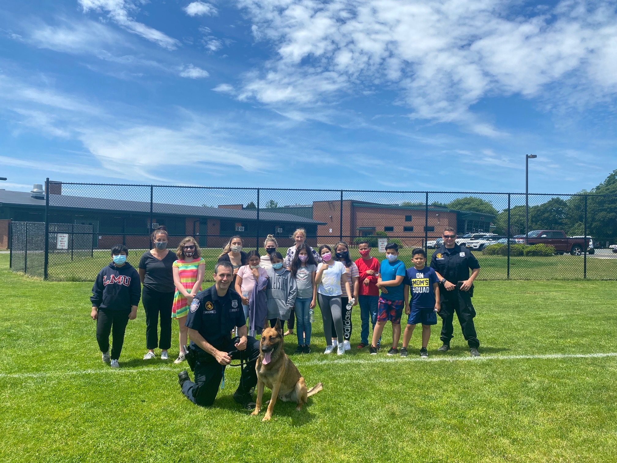 Southampton Intermediate School students learned about K-9s during a recent visit from local police officers.