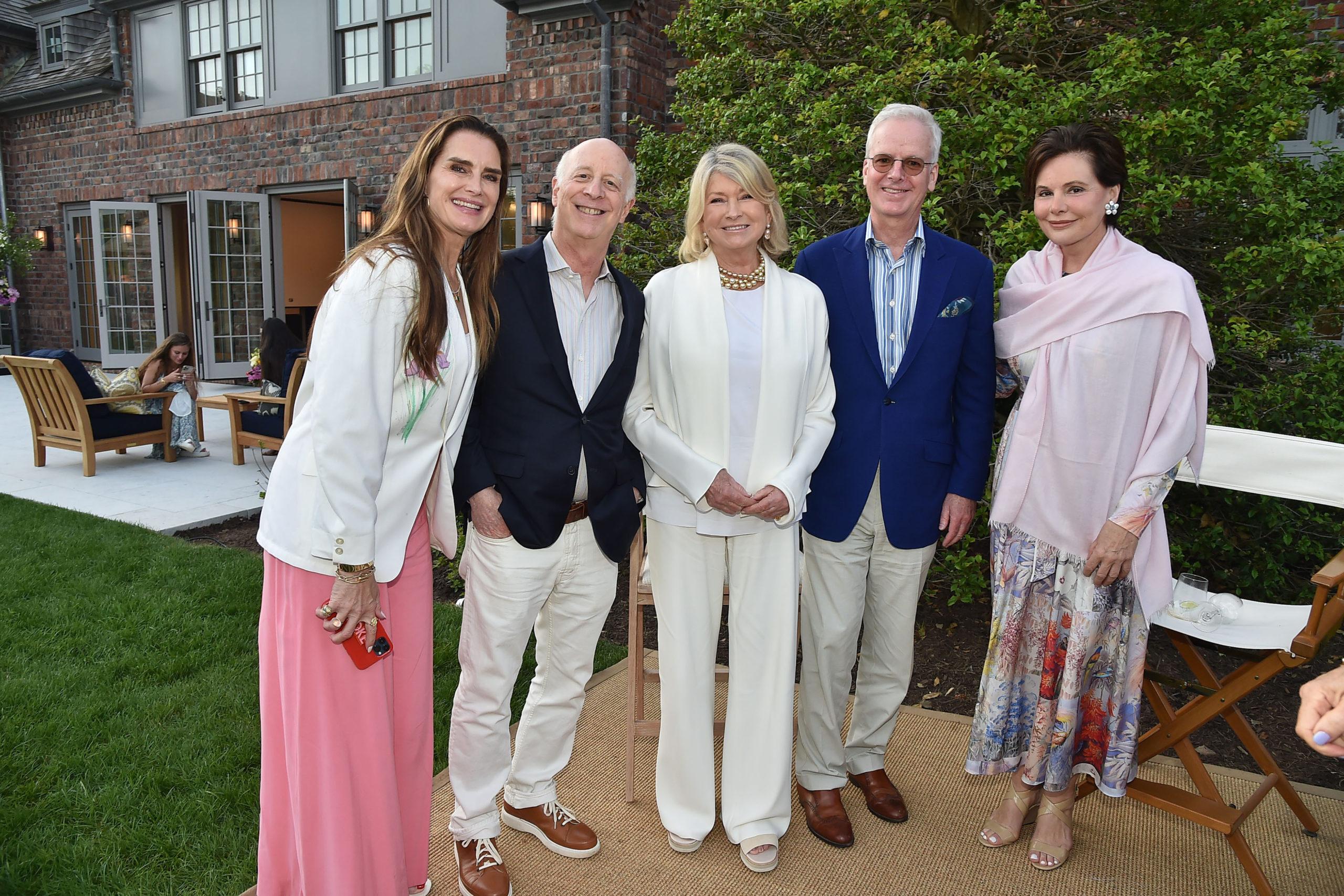 Brooke Shields, Paul Goldberger, Martha Stewart, Peter Pennoyer, Gayfryd Steinberg. PATRICK MCMULLAN