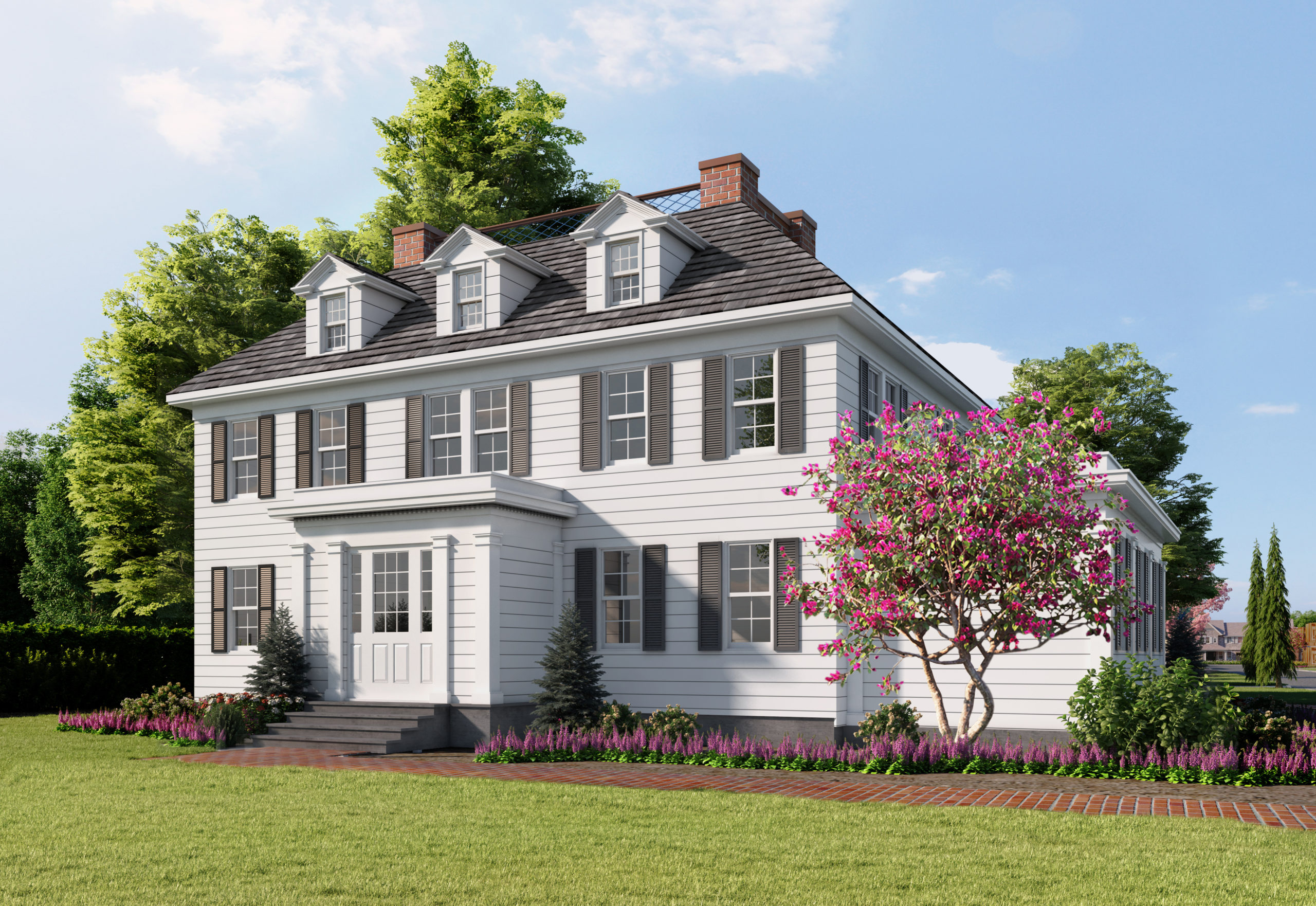 A rendering of the restored Terry Cottage. COURTESY THE BEECHWOOD ORGANIZATION