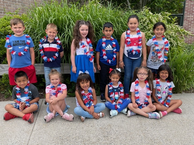 Wearing red, white and blue, Westhampton Beach Elementary School students celebrated Flag Day on June 14. To mark the occasion, student council members shared with their peers the history and significance of the American flag over the school's public address system.