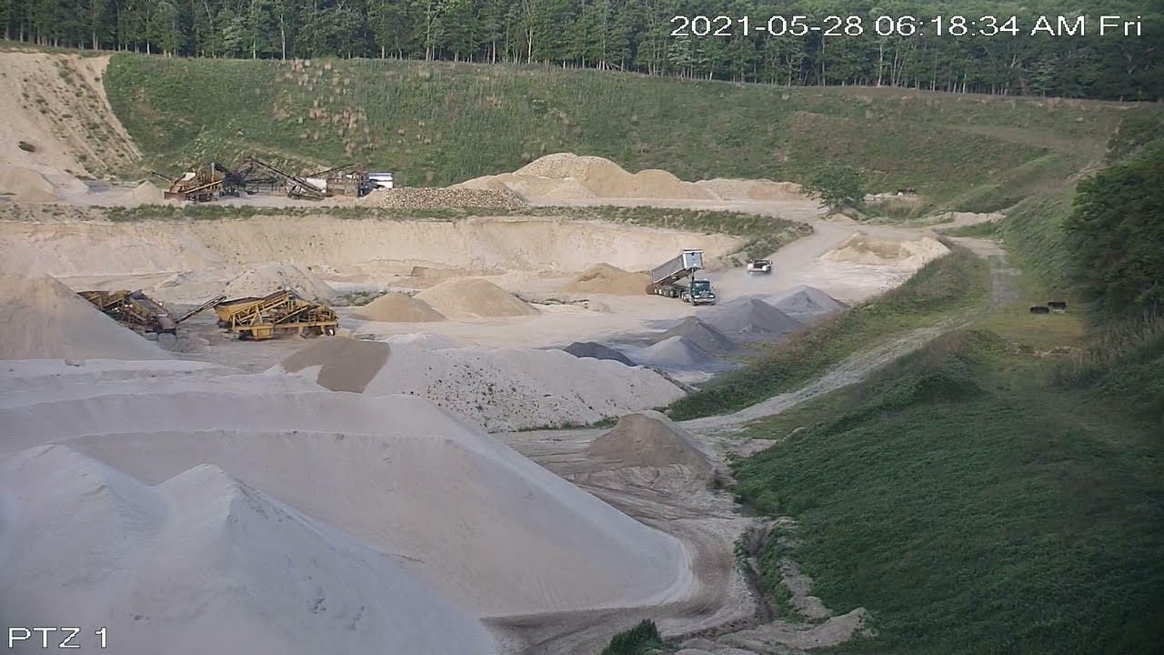 The Sand Land site Friday morning as captured by a surveillance camera mounted on the neighboring Bridge golf club property.