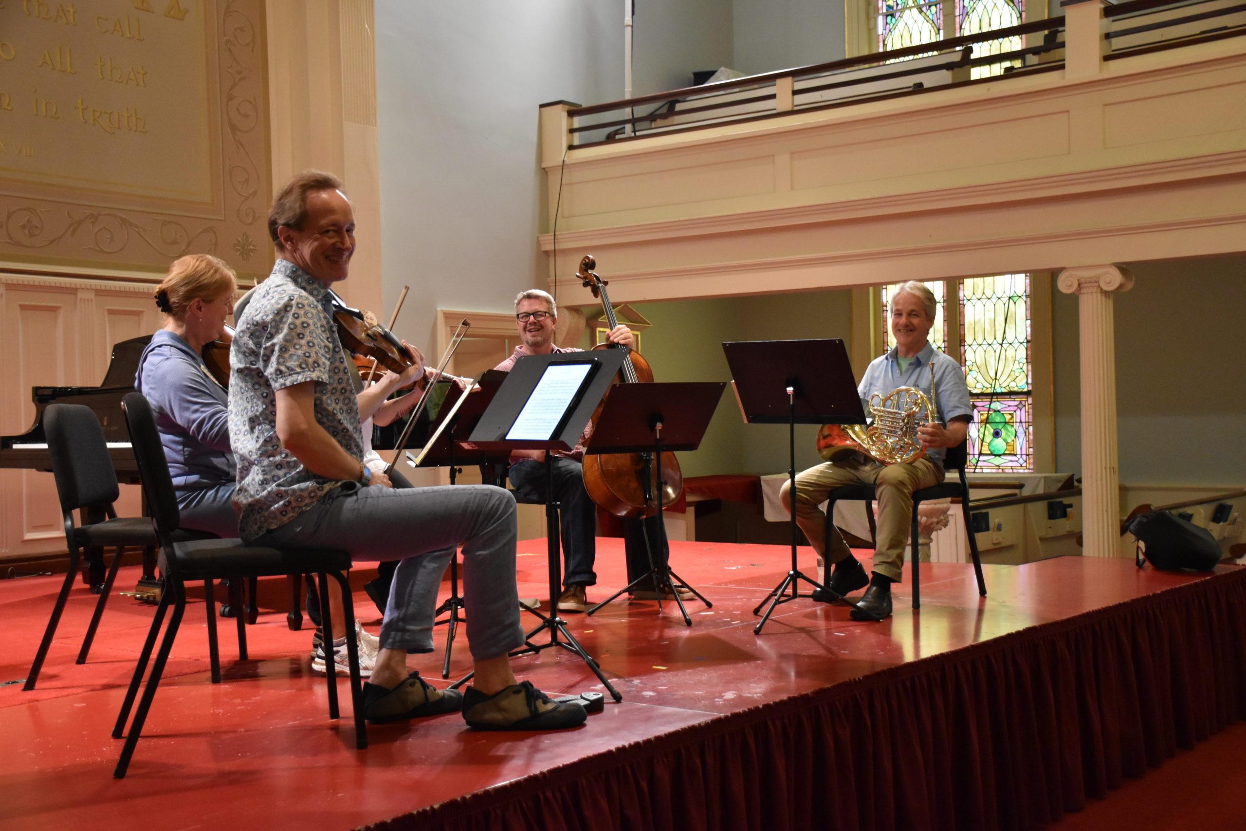 A BCMF rehearsal.