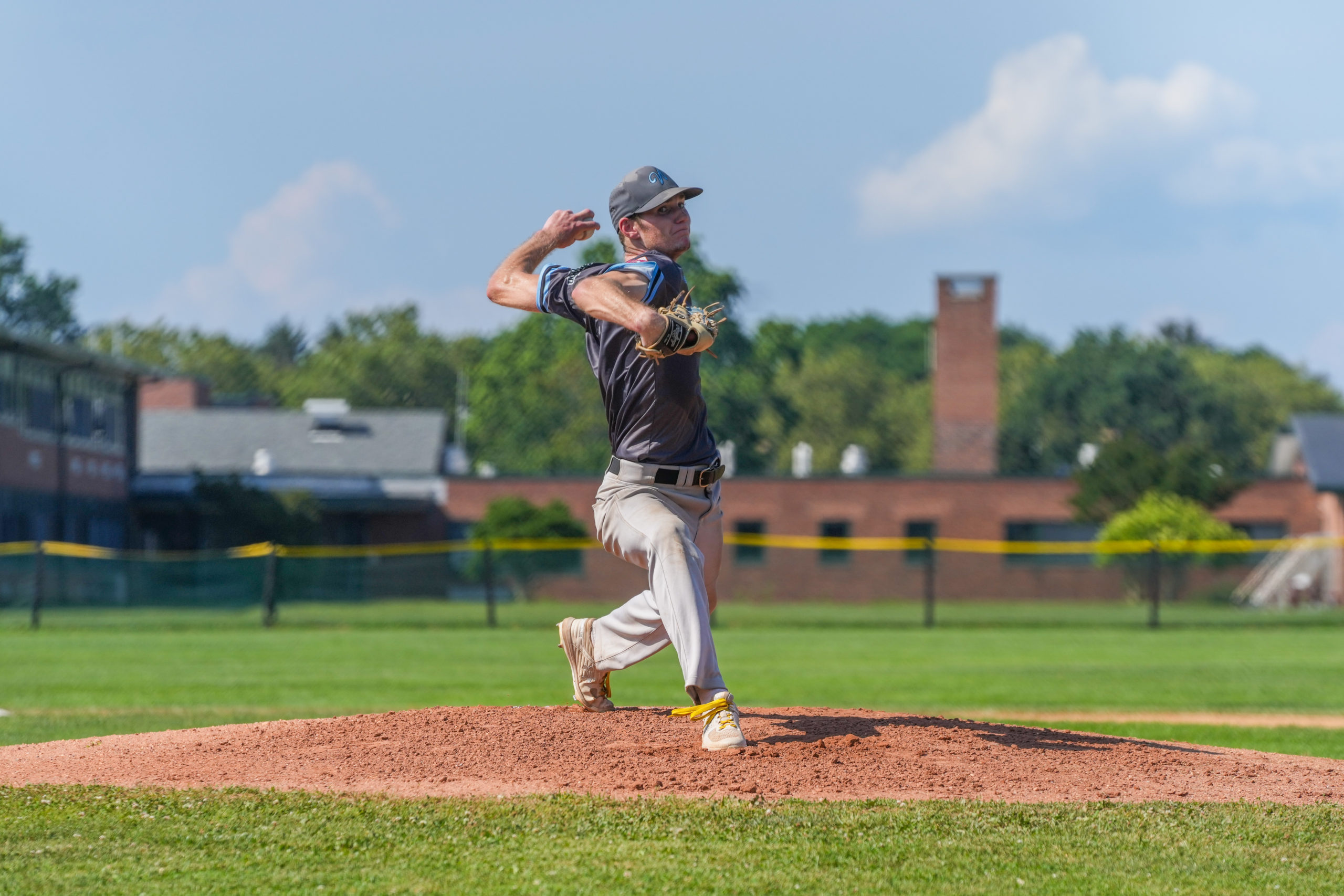 Sag Harbor Whaler John Collins (Merrimack) pitched well in game one of the semis against Southampton, allowing just one earned run in six innings.