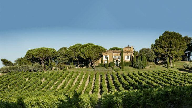 Chateau La Verrerie and vineyards.