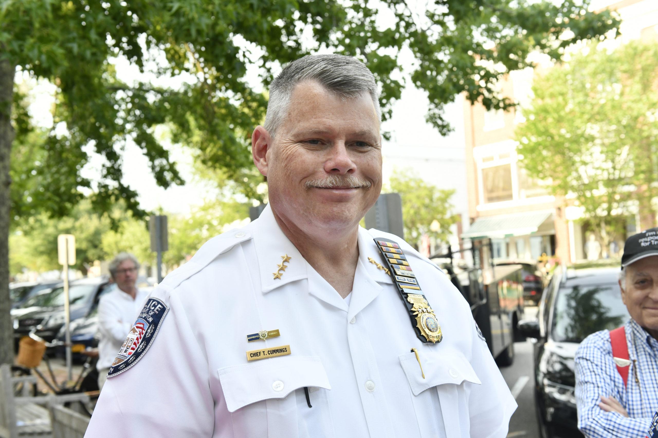 Southampton Village Police Chief Thomas Cummings is retiring.