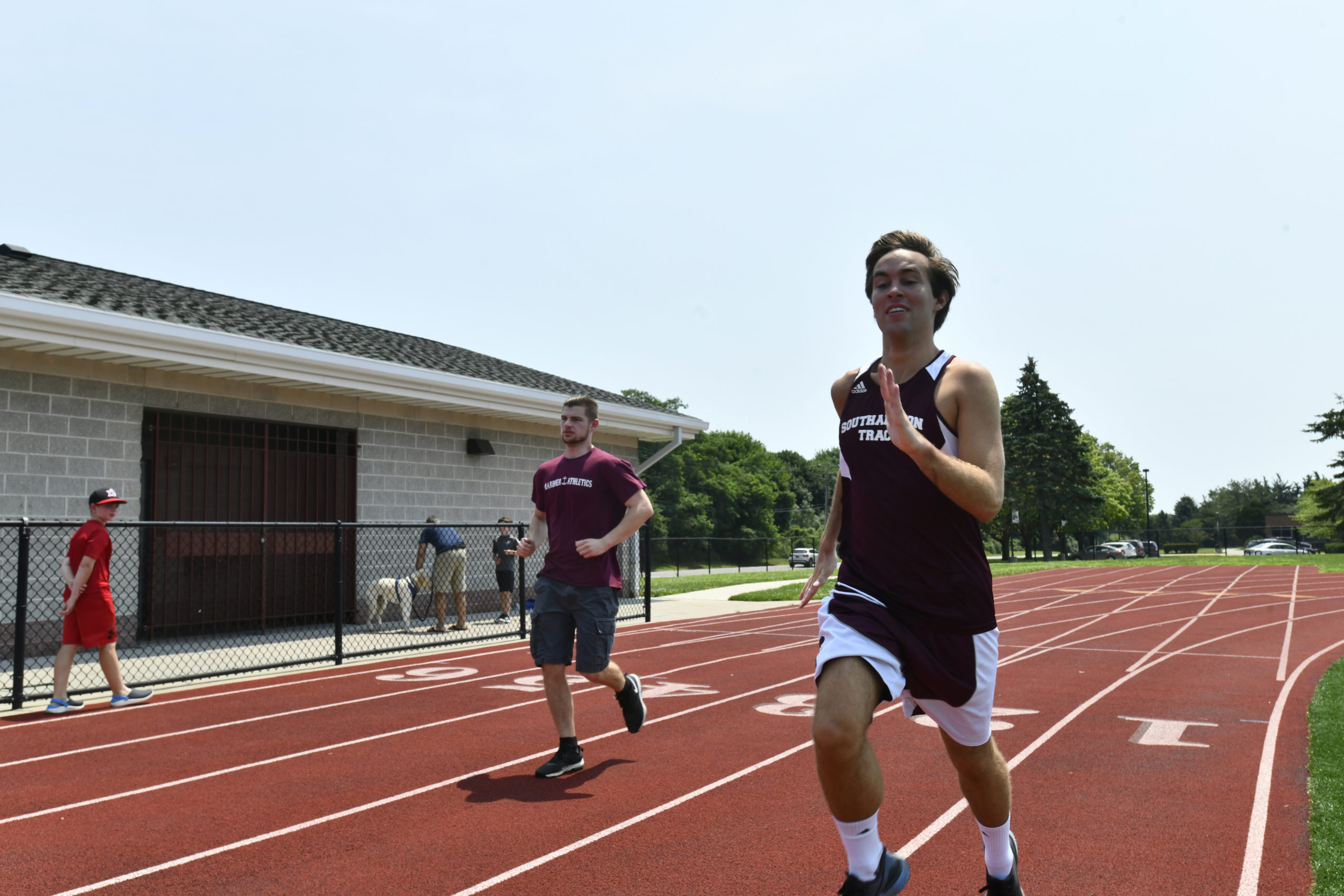 Southampton residents Ross Ebrus, left, and William Segarra will represent Team New York at the Special Olympics USA Games, in track and field, next June in Orlando, Florida. They were chosen based on their performances at the 2019 State Games. Segarra competes in the long jump and 1,600-meter race, while Ebrus competes in the shot put and 800-meter race.   DANA SHAW