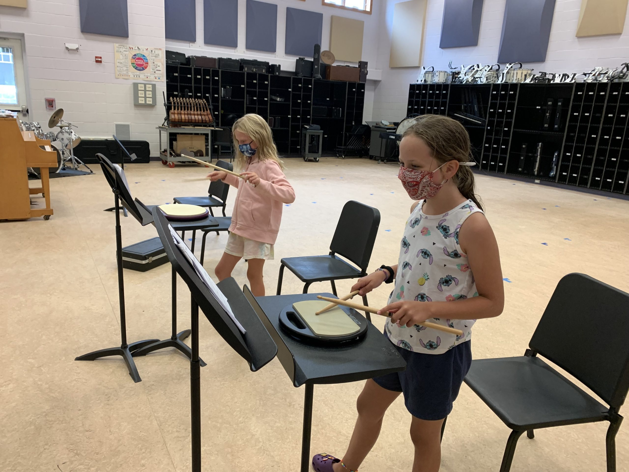 The Hampton Bays School District's Summer Instrumental Music Program introduced middle school students to a variety of band instruments.
