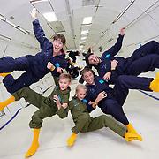 Riders experience weightlessness on a Zero-G flight.