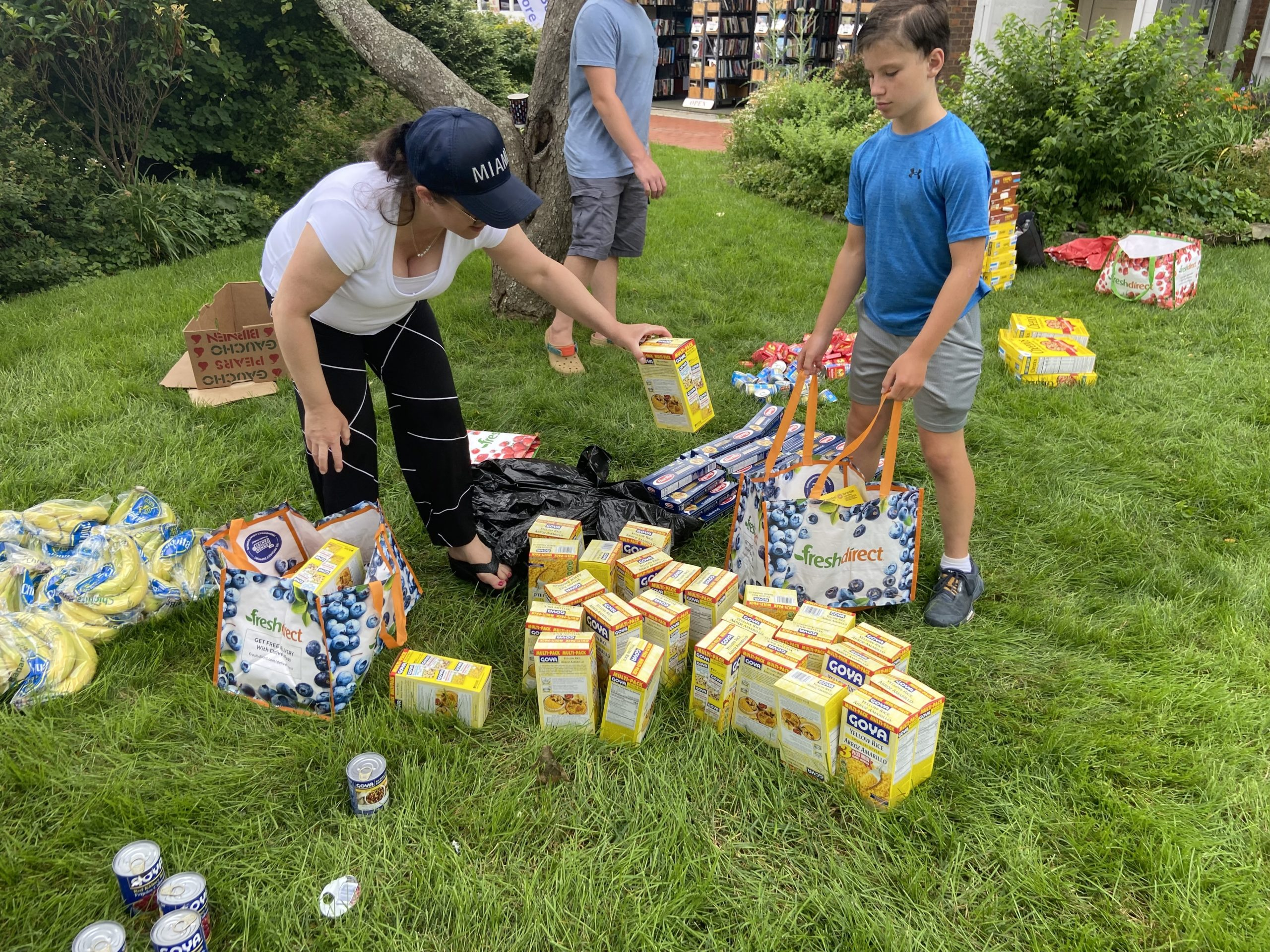 The backpacks were packed with food, activities, and summer essentials.