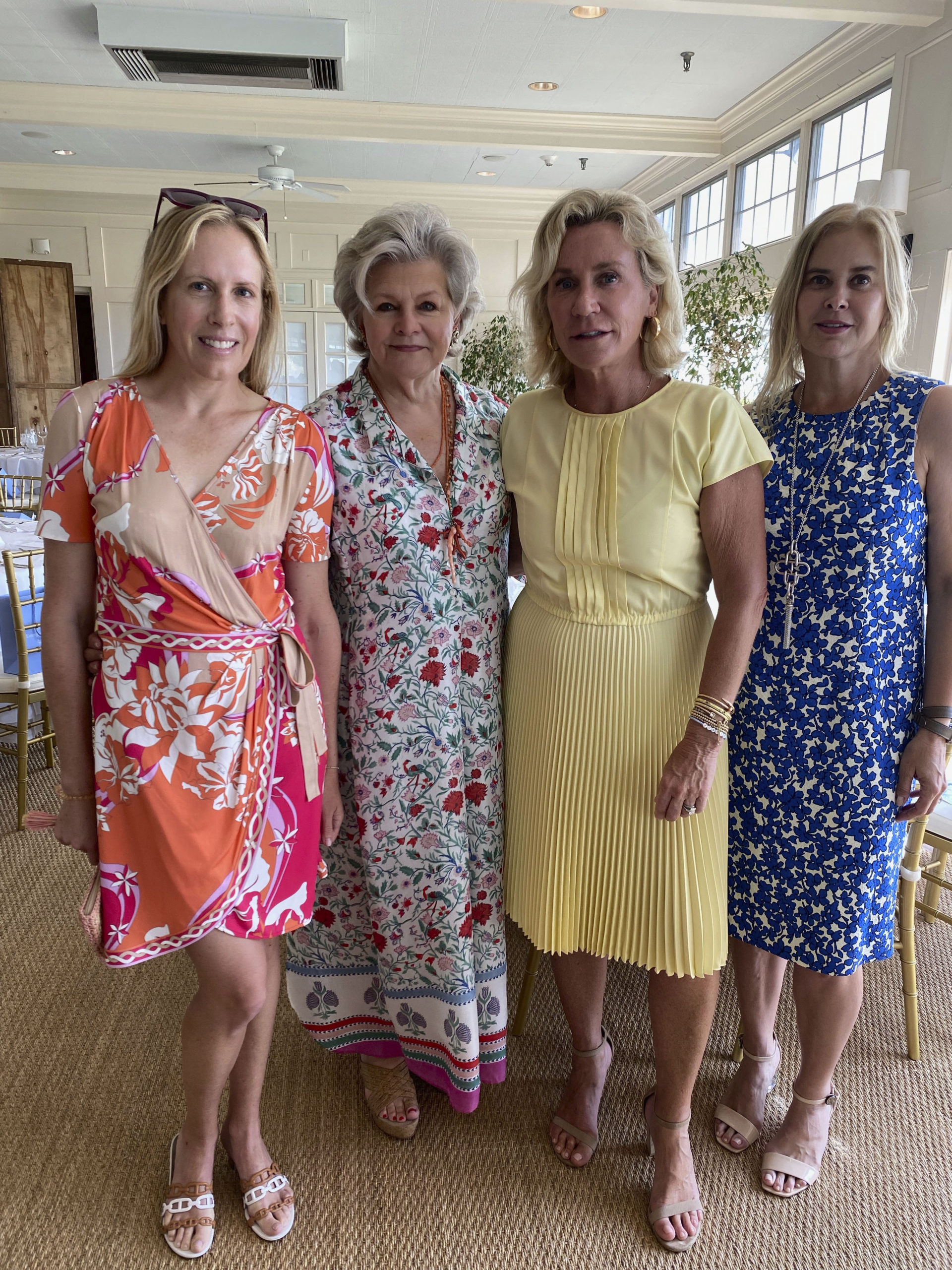Kate Davis, Charlotte Moss, Hollis Forbes and Jill Davis at the Luncheon for the East Hampton Satellite ER.  GRED DELIA