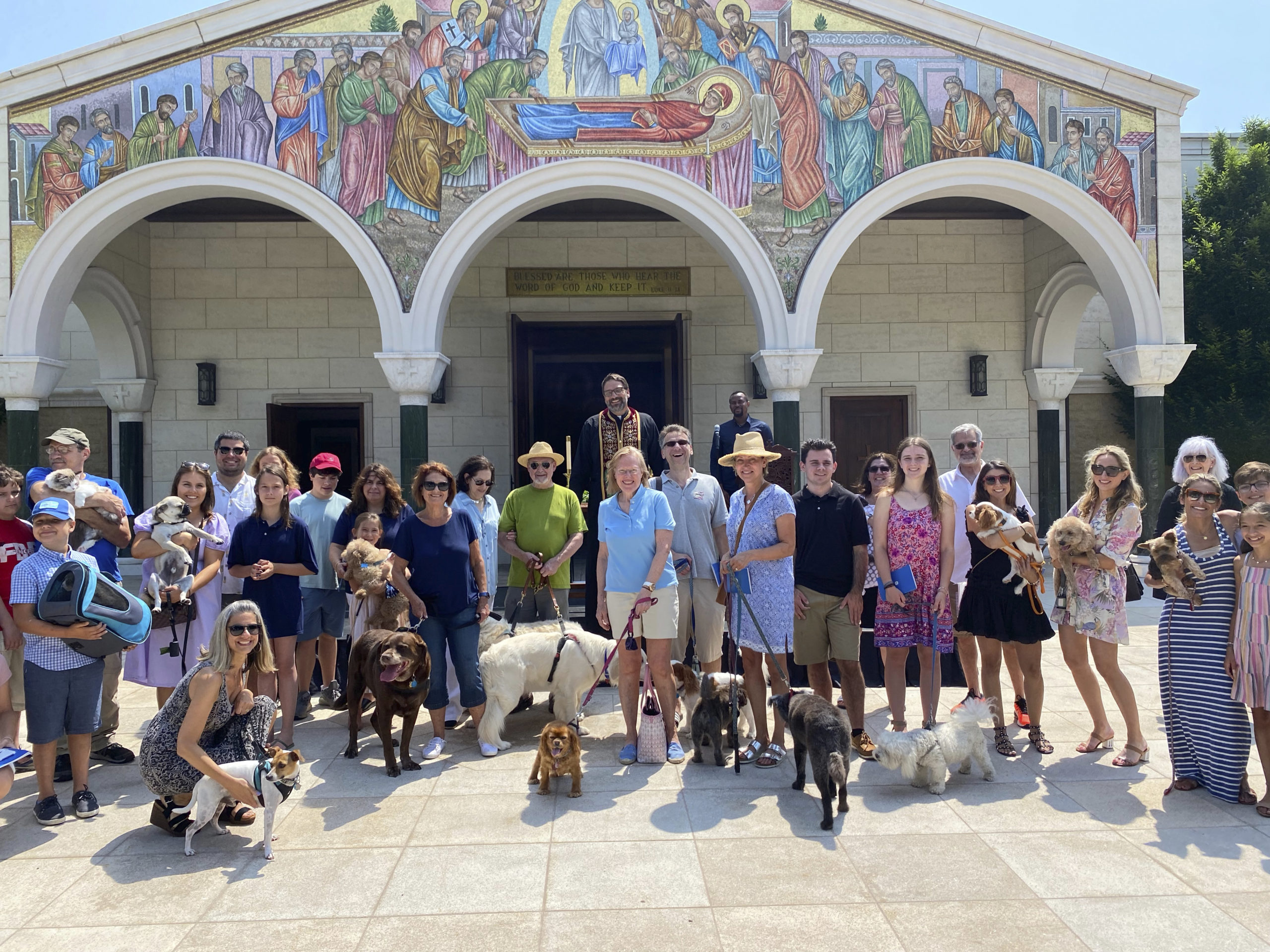 Father Constantine presiding over the Blessing of the Animals.    GREG DELIA