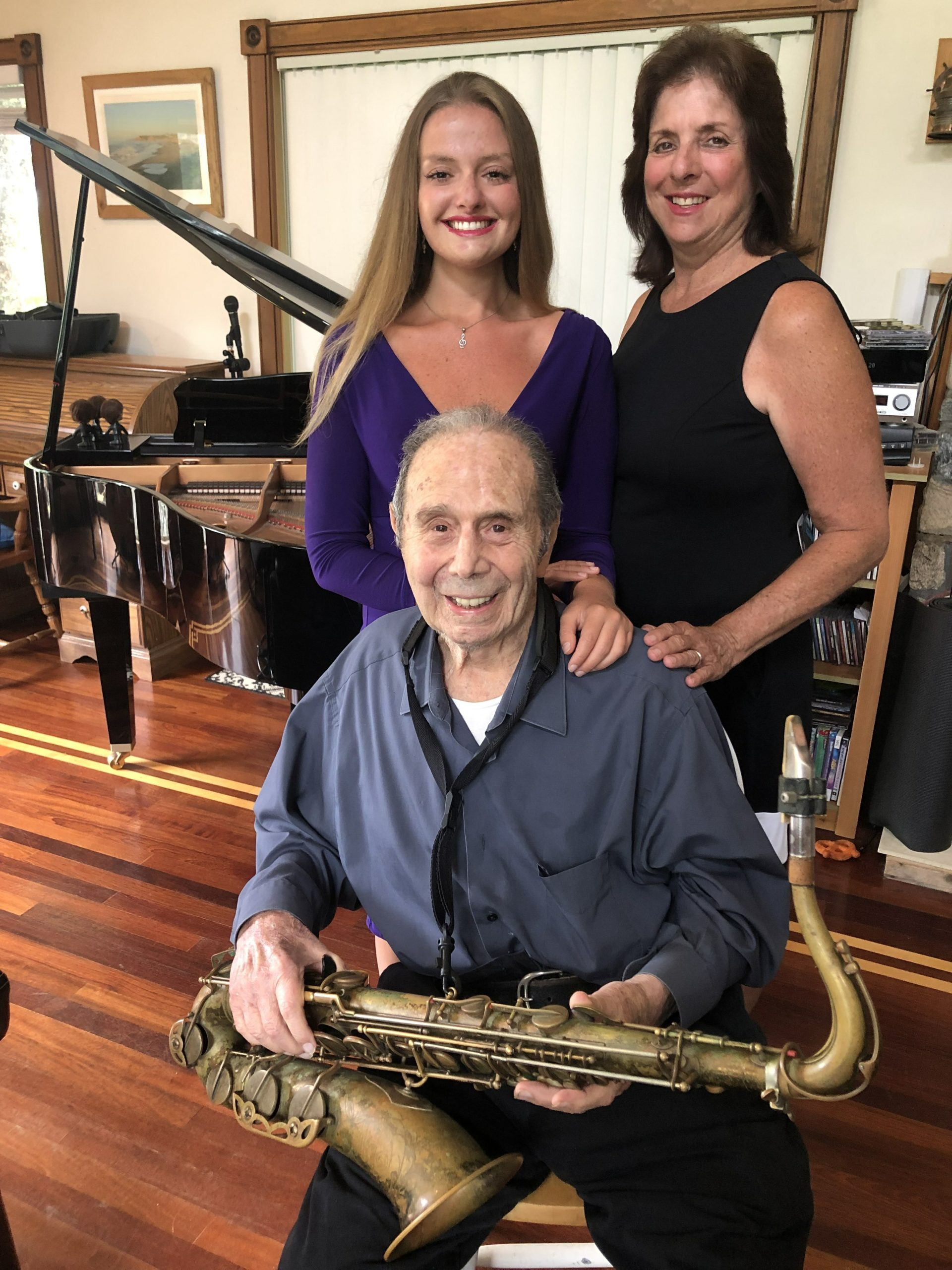 Pat DeRosa, 99, with his daughter, Patricia DeRosa Padden and his granddaughter, Nicole DeRosa Padden. CASILIN RILEY