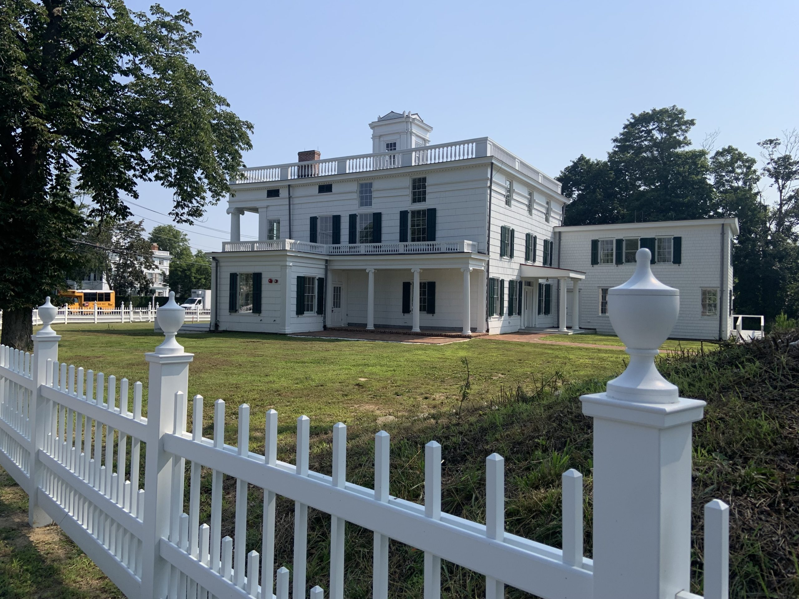 The Nathaniel Rogers House, the new home of the Bridgehampton Museum, as seen from Ocean Road. STEPHEN J. KOTZ