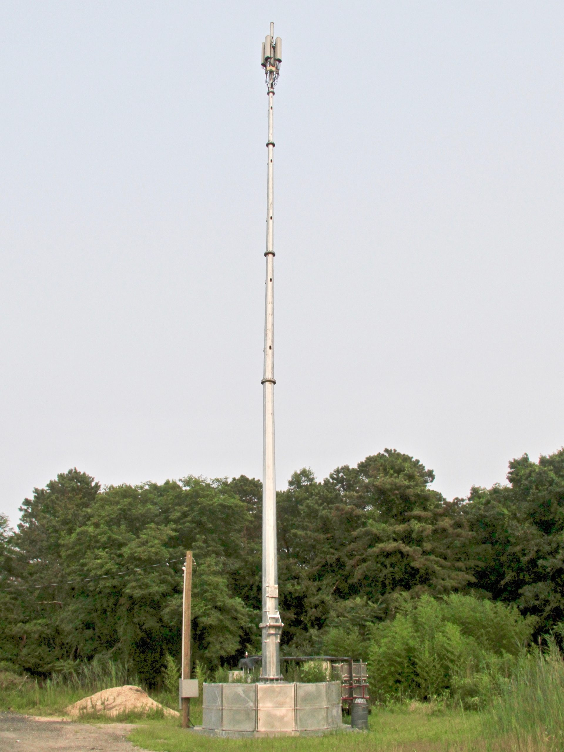 A temporary cellular tower commonly called a COW, for cell on wheels, at the town Highway Department yard on Stephen Hands Path. The town has proposed installing a similar device at the Crandall Street property while it prepared engineering for a permanent site.