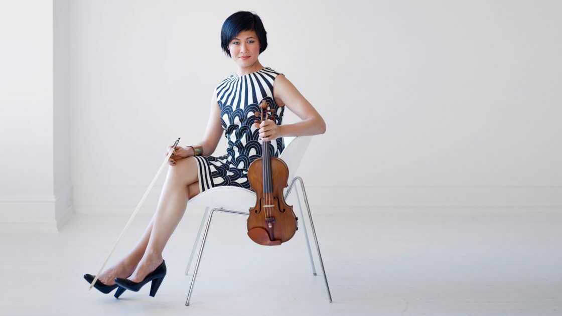 Violinist Jennifer Koh will perform Bach's Chaconne alongside Alan Alda.