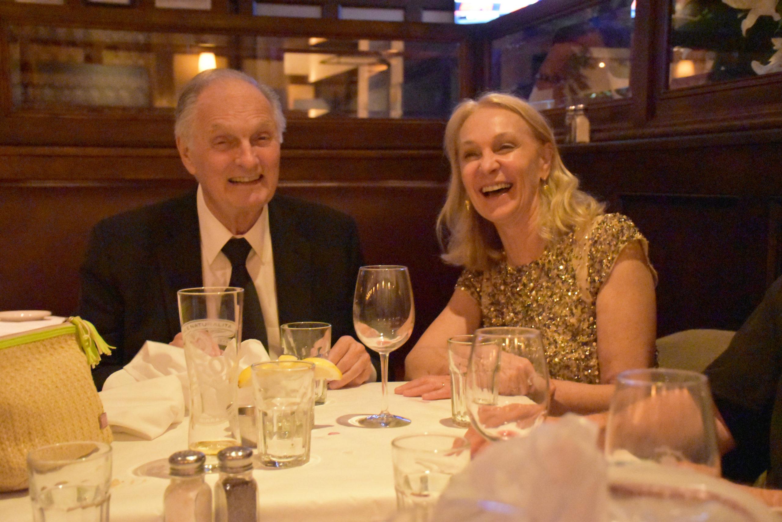 Alan Alda and Marya Martin.