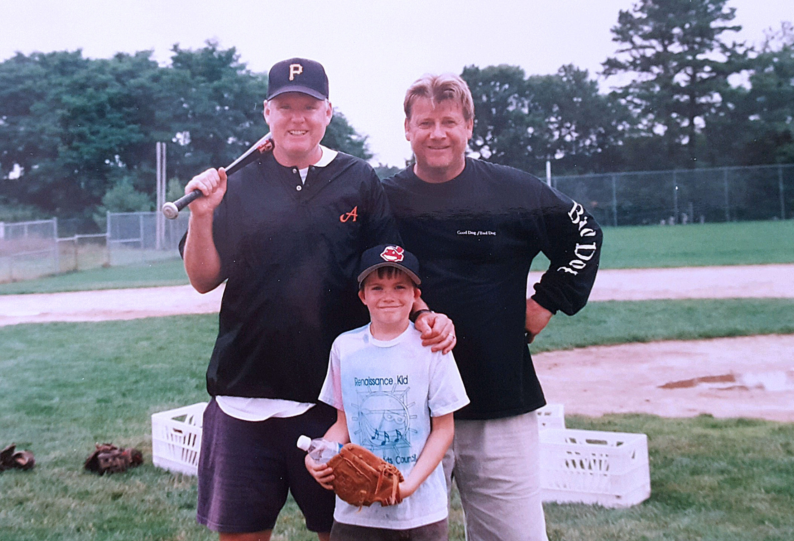 Peter Richard, left, with his nephew Timothy Palmer and Rob Nelson.