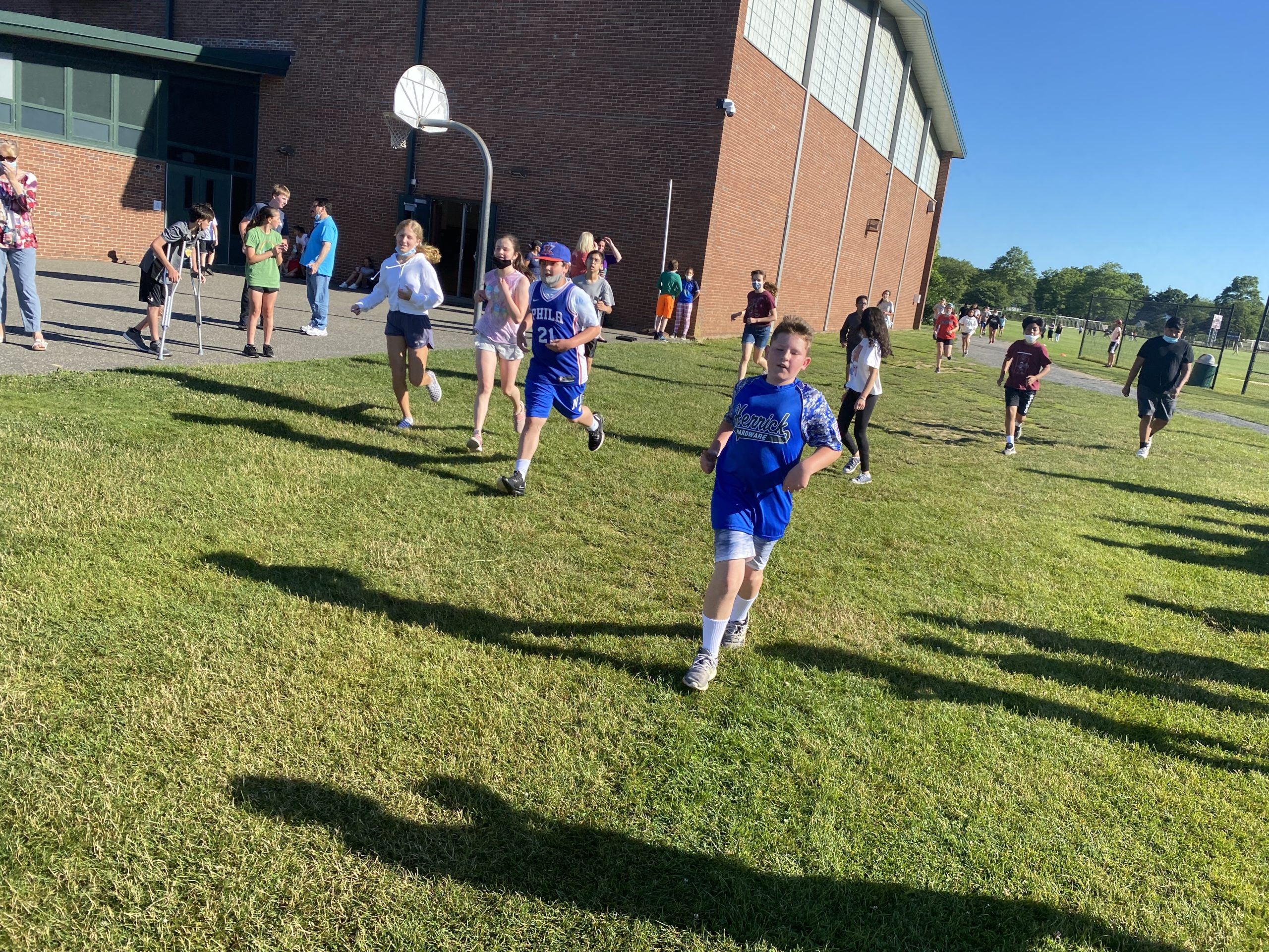 Southampton Intermediate School students and faculty raised more than $3,000 to benefit the Heart of the Hamptons on June 25. The funds were raised through the school's annual Run Against Hunger fun run, where students and staff enjoyed fresh air while raising awareness and funds for the cause.