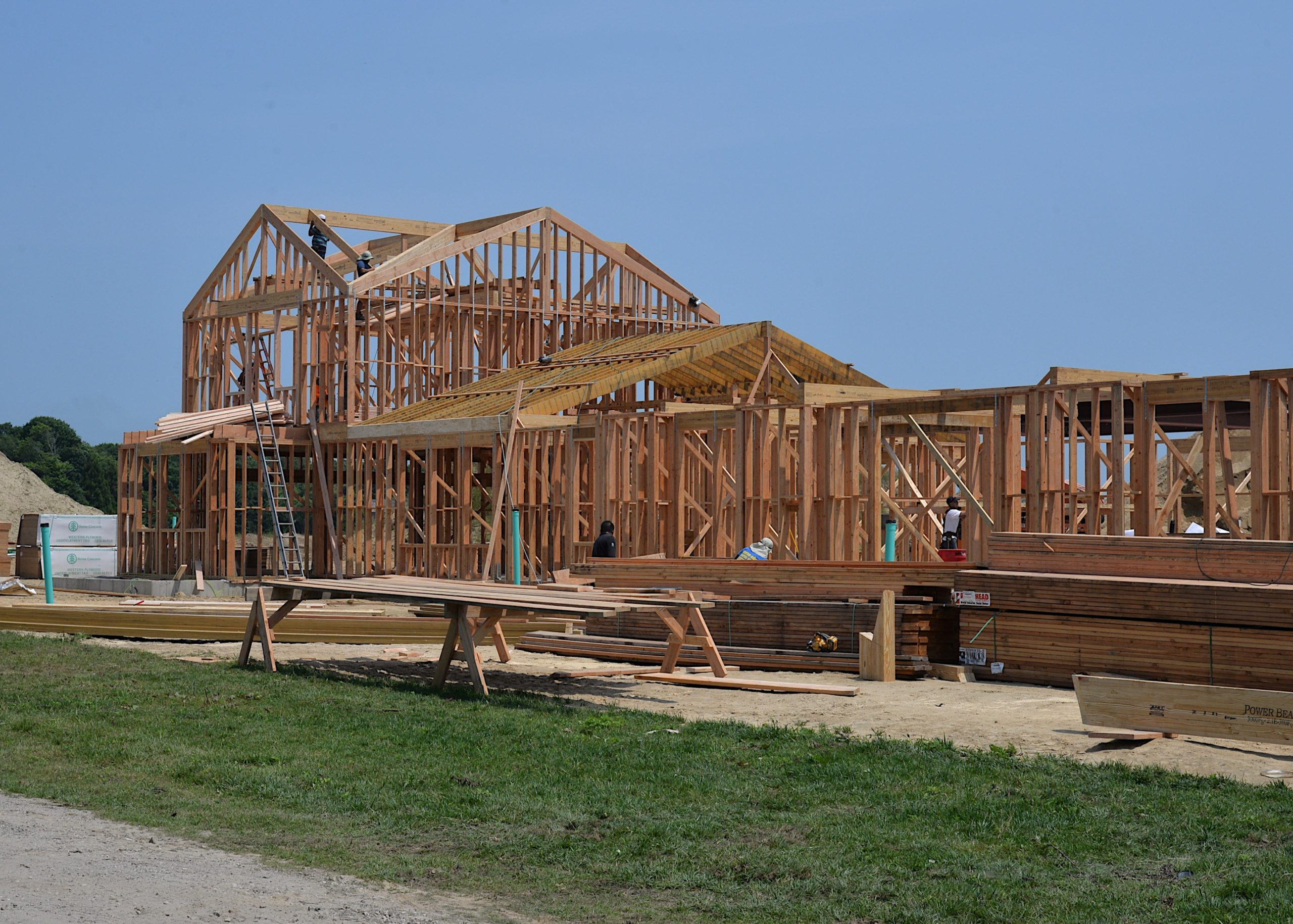 The first houses rises in the Wainscott Hollow Farm agrihood. KYRIL BROMLEY