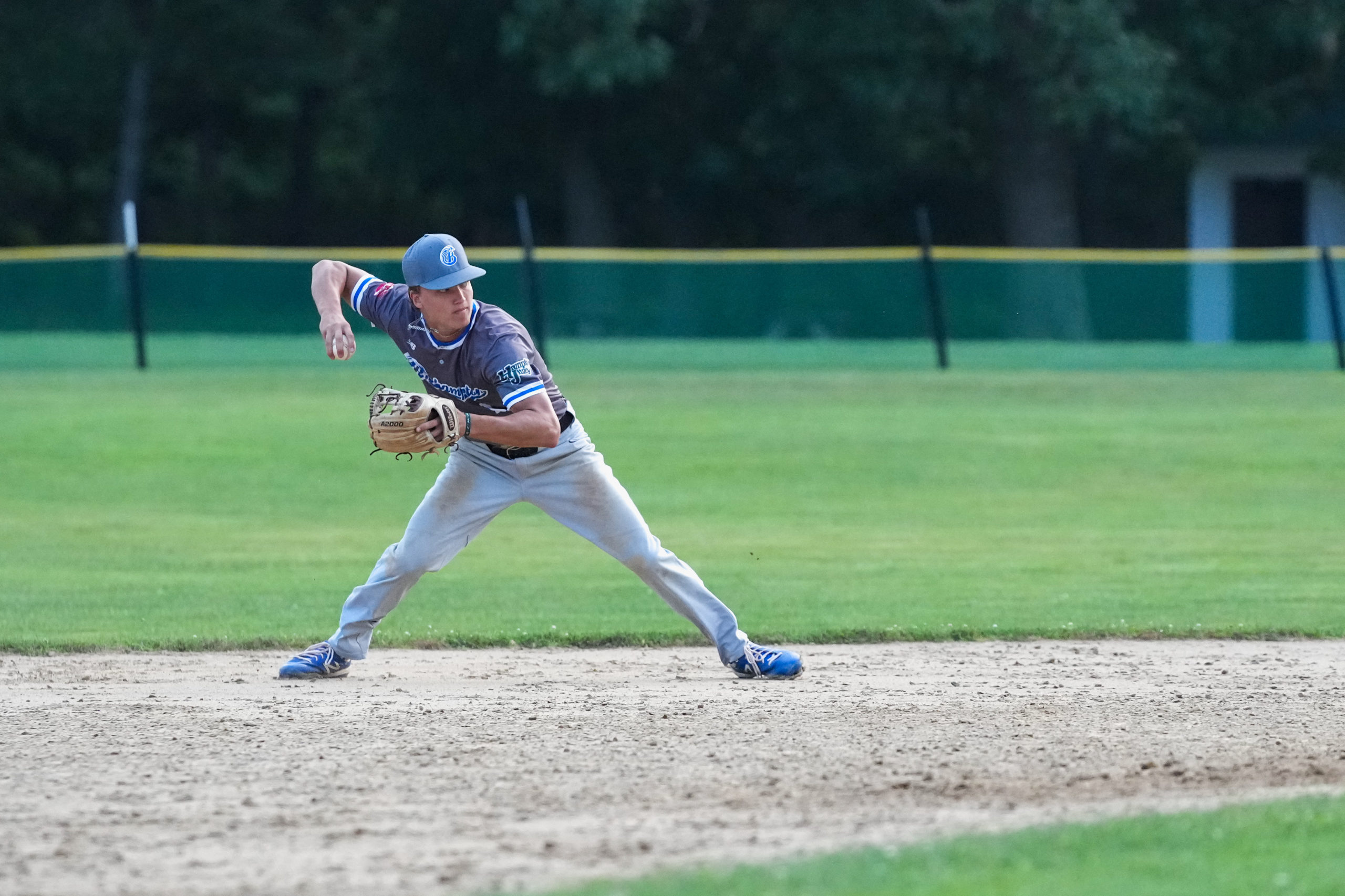 Breakers shortstop Thomas Eitniear (Toledo) throws to first for an out.