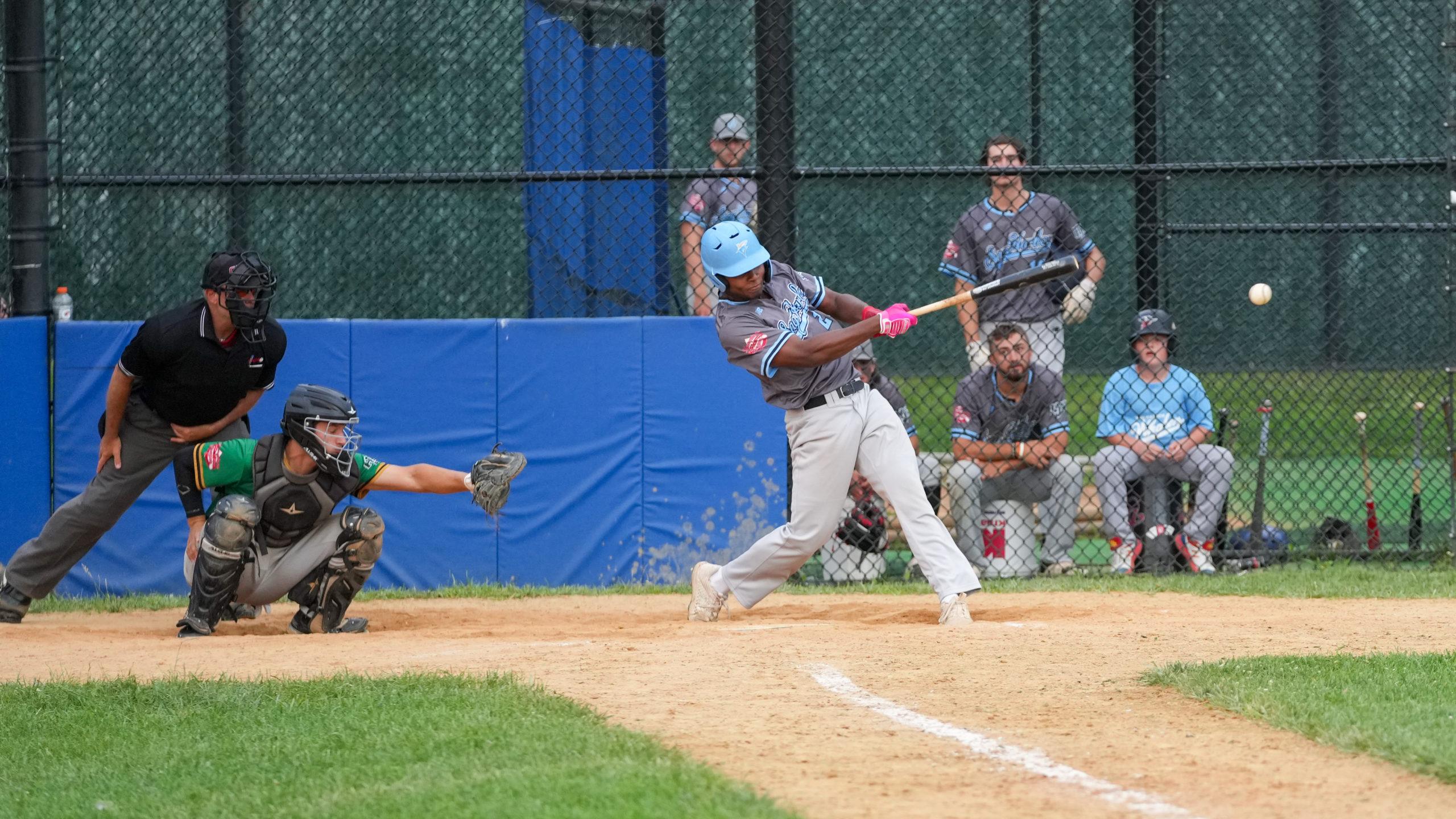 Myles Proctor (LIU) singles to center field to drive in the eventual game-winning run.