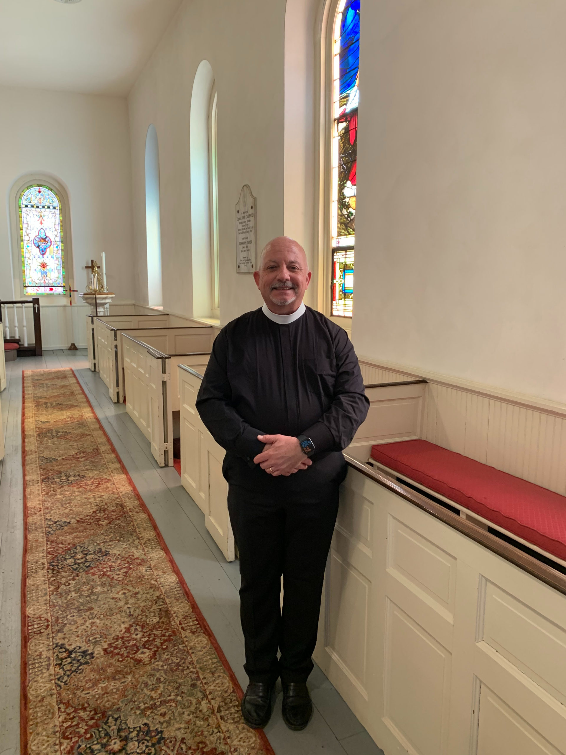 Reverend Chris Jubinski, the new Rector at St. Marks Episcopal Church in Westhampton.
