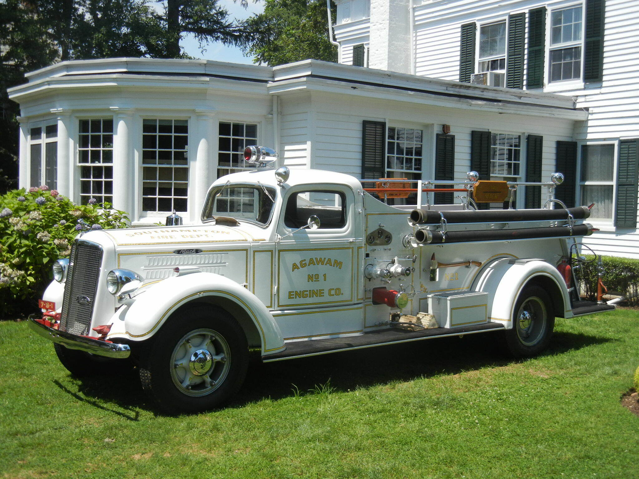 Fire Truck No. 1 Agawam Engine Co. 1912