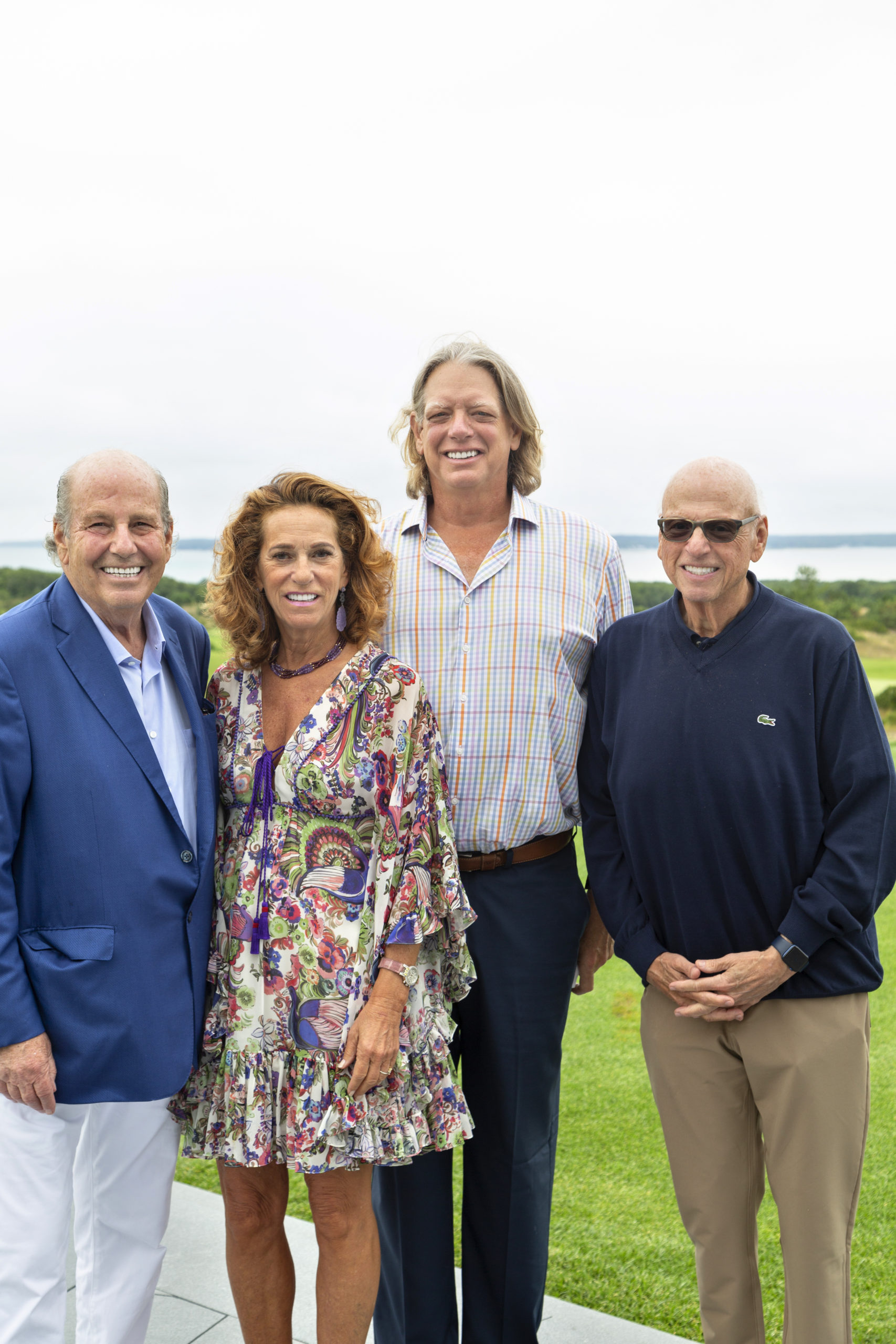 Jeffrey Feil, Debbrah Lee Charatan, Lloyd Goldmaan and Howard Lorber at the U.S. Holocaust Memorial Museum New YOrk Real Estate Event at The Bridge in Bridgehampton on August 5. The event raised funds in support of the museum's mission to preserve the evidence and memory of the Holocaust.