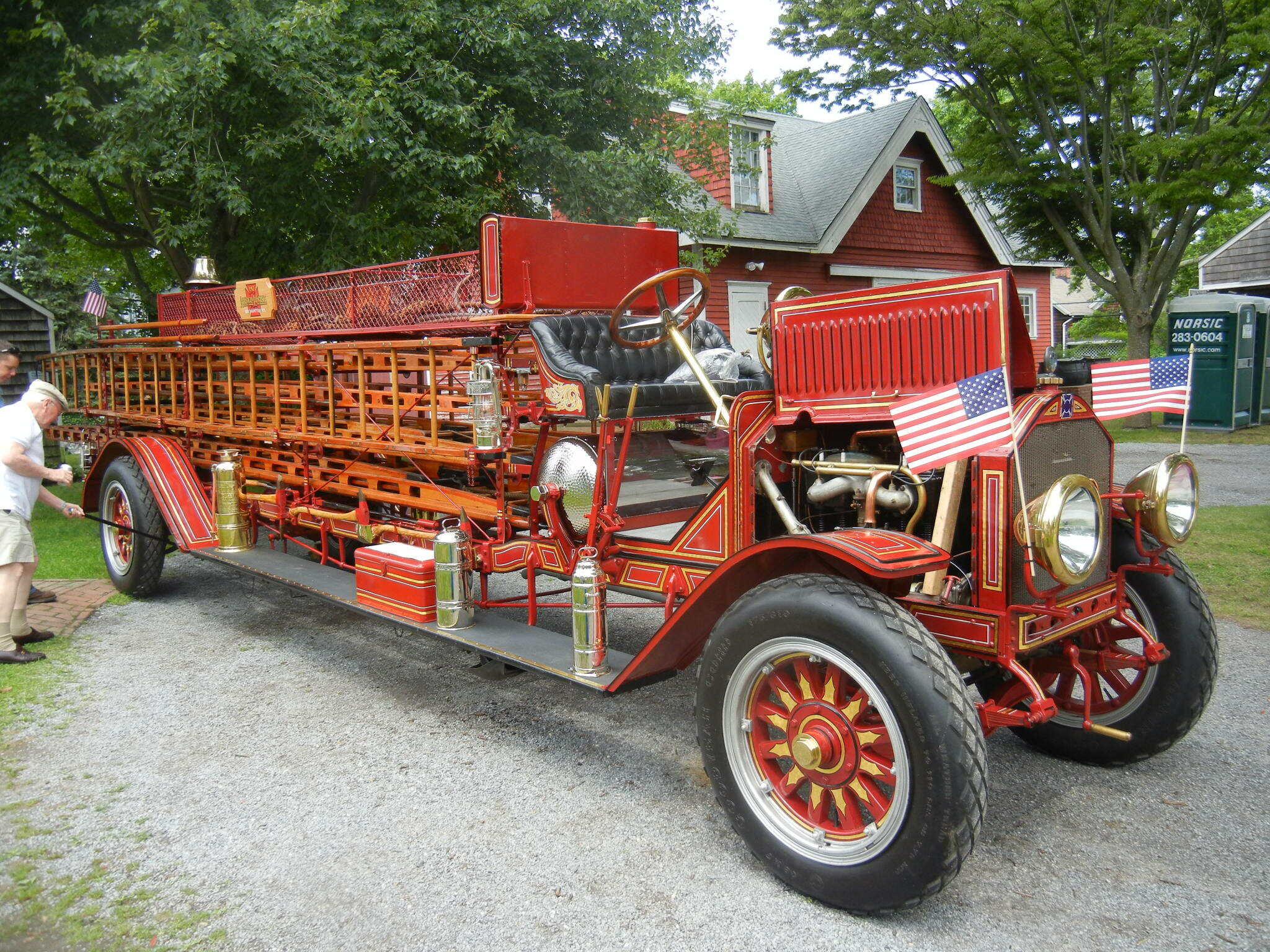 A City Service Ladder Truck.