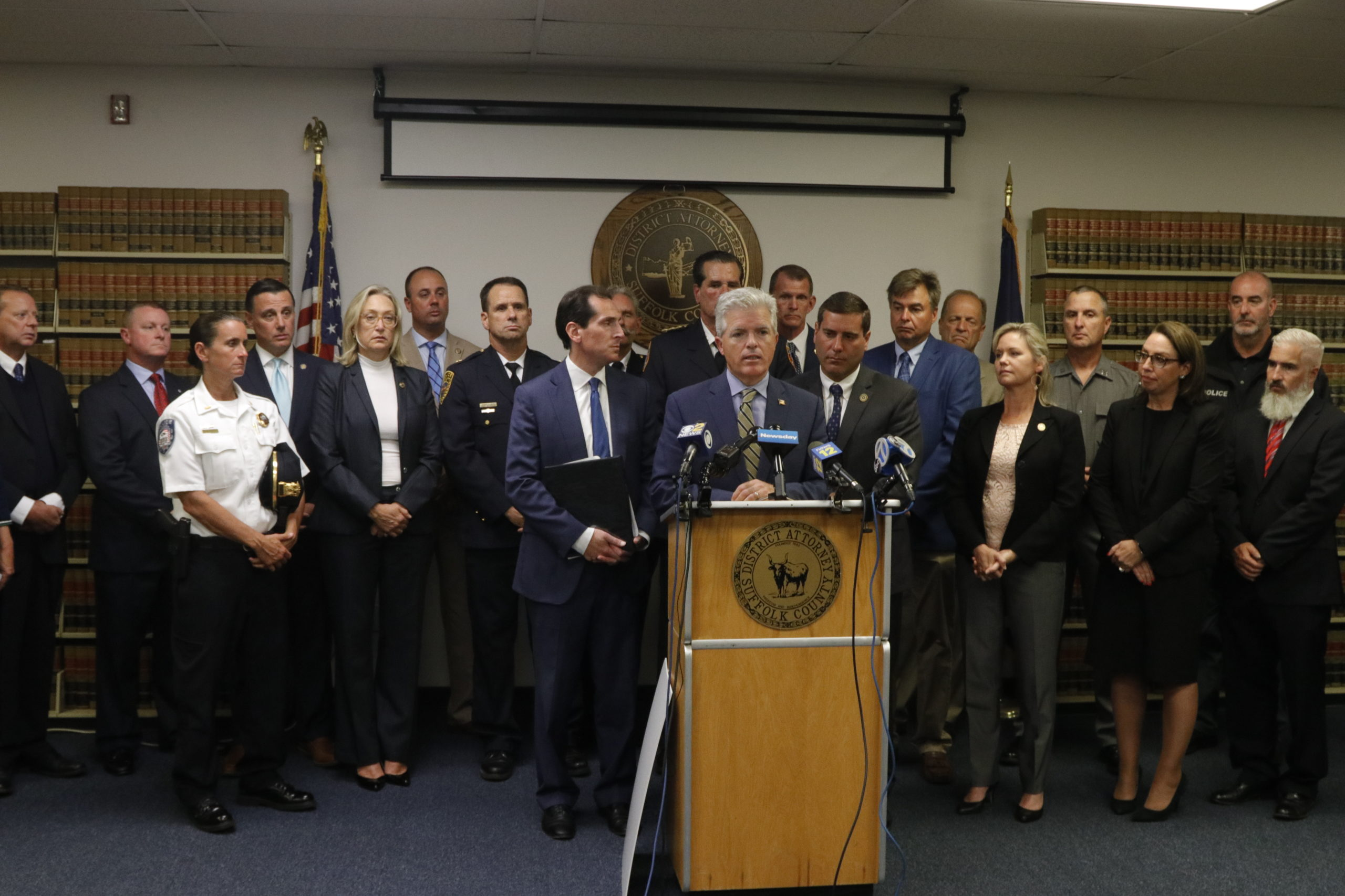 Lawmakers assembled to urge the passage of a