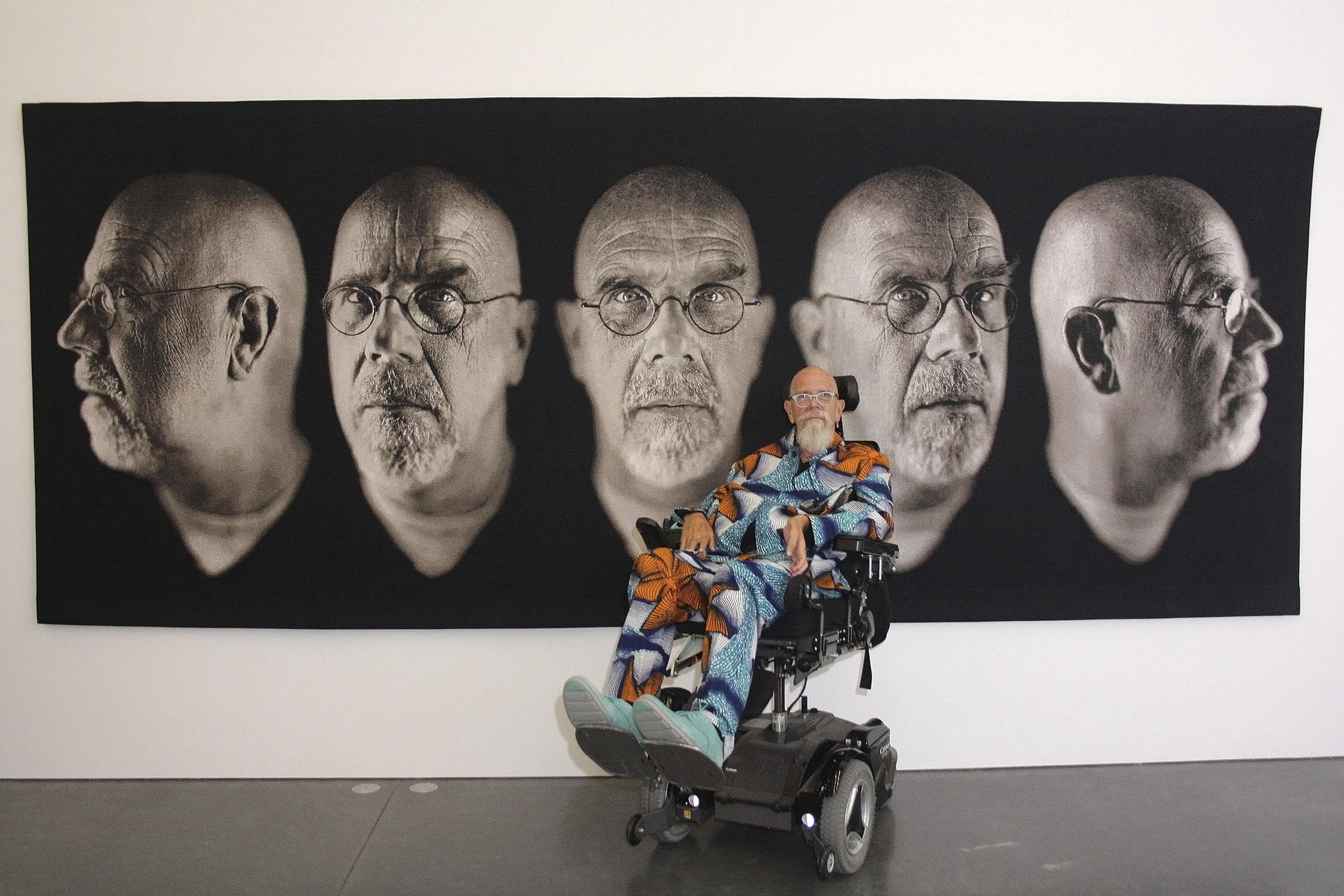 Chuck Close at the Parrish Art Museum in 2015.   TOM KOCHIE