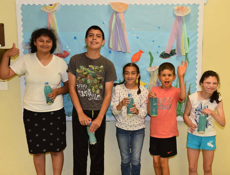 Students enjoy undersea crafts at Westhampton Beach Learning Center.