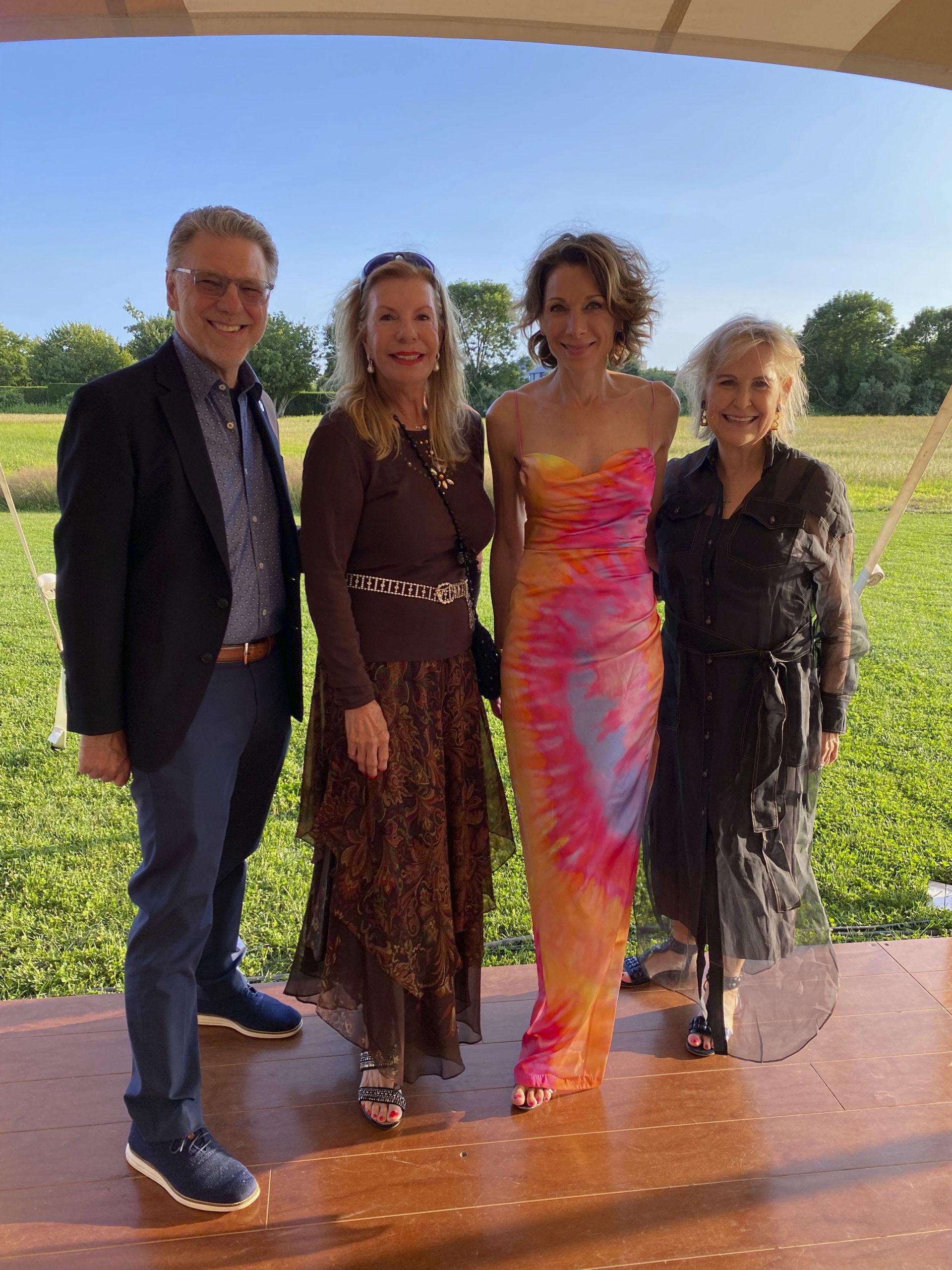 Harry Johns, Princess Yasmin Aga Khan, Daryl Simon and Nicole Sexton at the Fork It Alzheimer event.  GREG DELIA