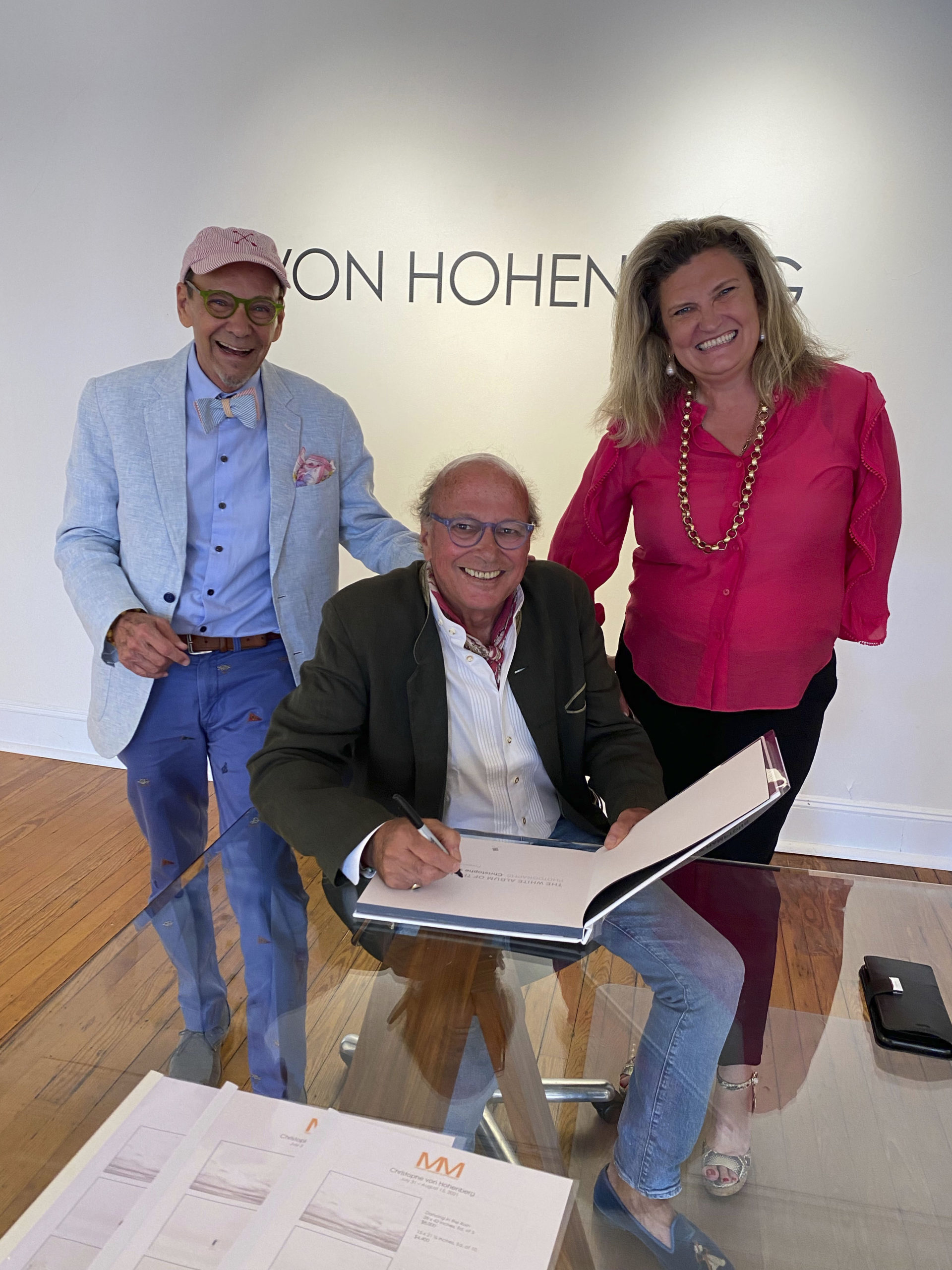 Bruce Helander, Christophe Von Hohenberg and Melanie Seymour Holland at the book signing.  GREG DELIA