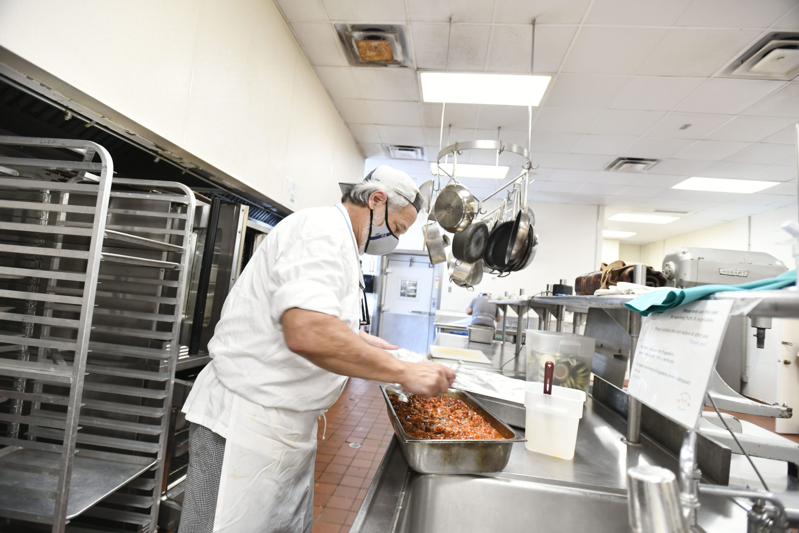 Chef Jay Lippin works at the Food Institute at Stony Brook Southampton.  DANA SHAW