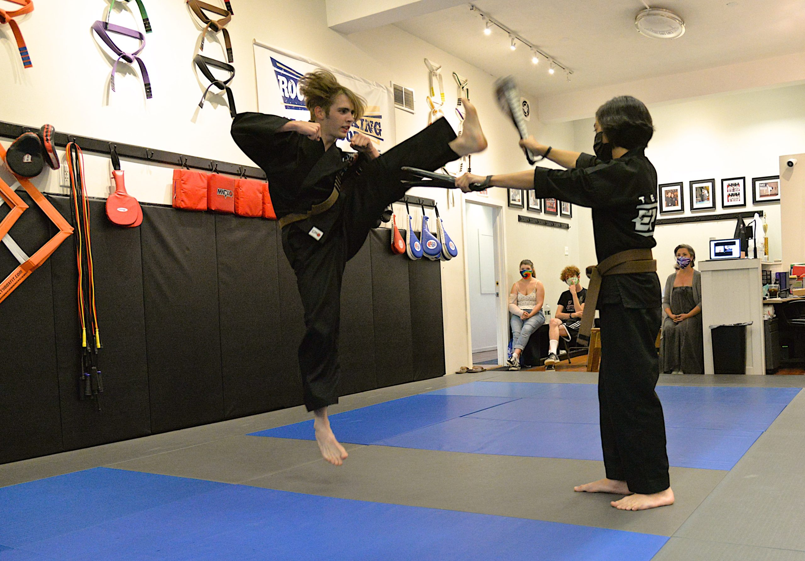 Thomas Schiavoni went through a number of tests this past Saturday, July 31, at EPIC Martial Arts in Sag Harbor to earn his black belt.