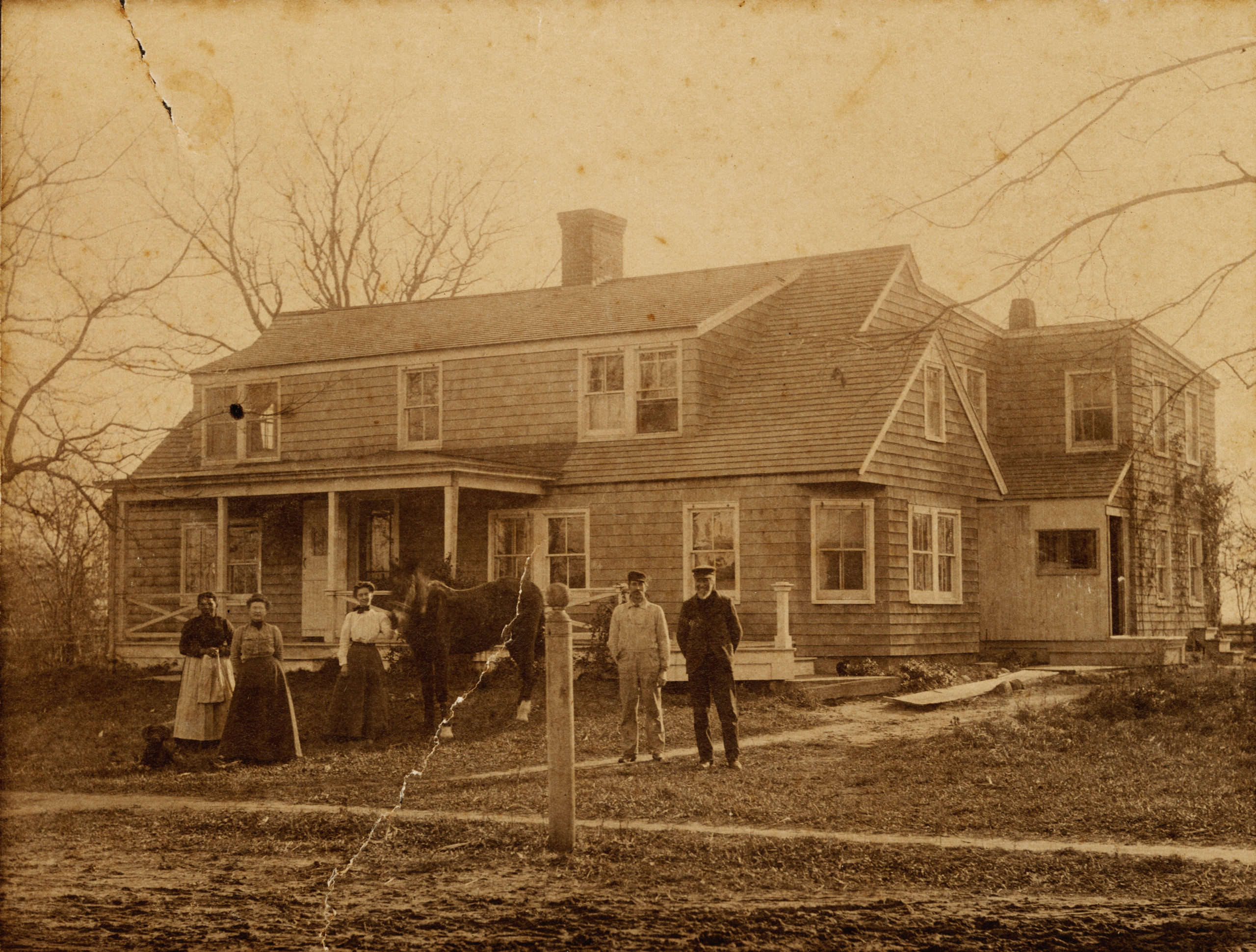 A circa 1875 photograph of the Hopping family in Wainscott. One of the very few local 19th century images of a person of color.