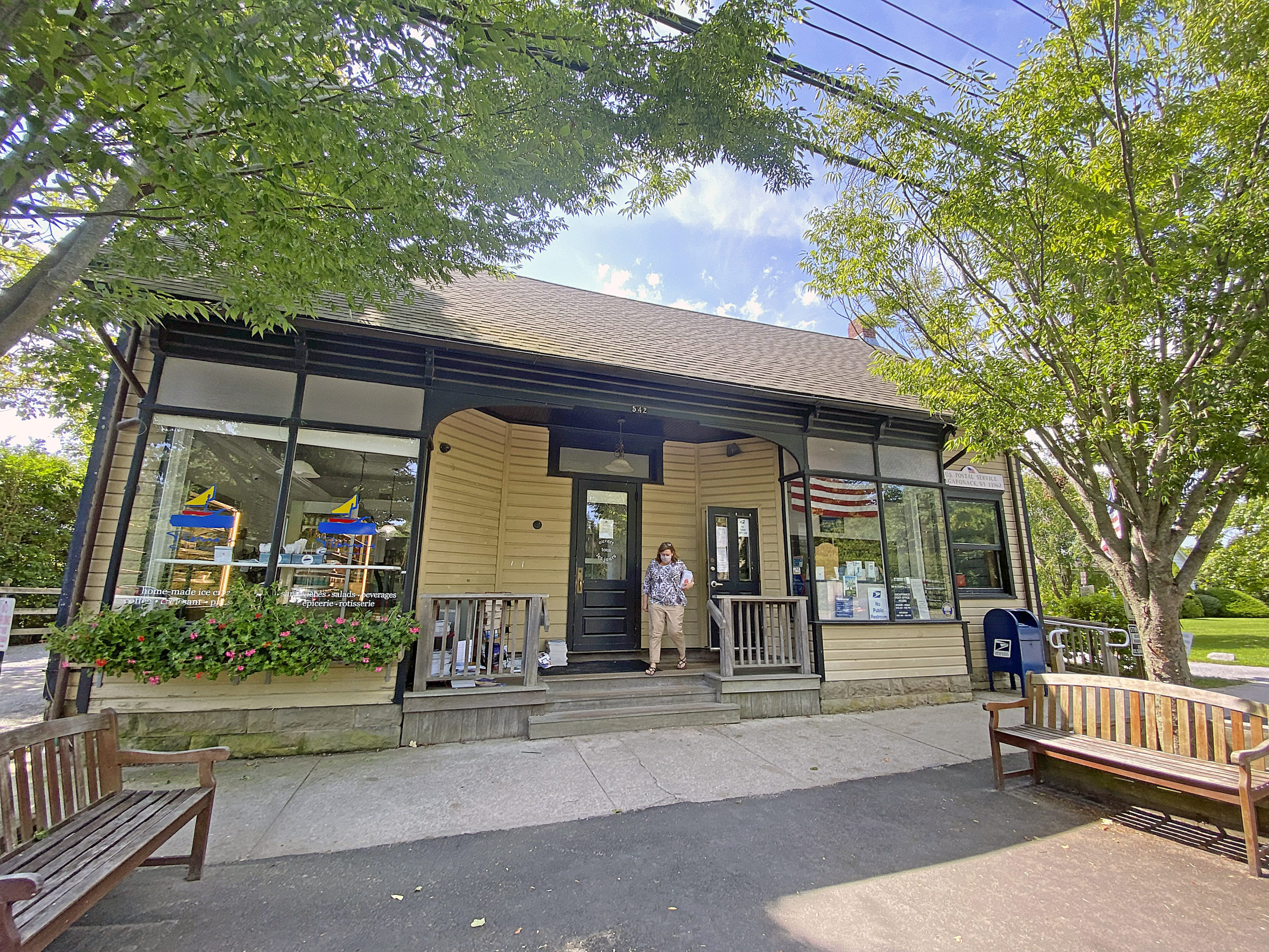 The Sag Store, which houses Pierre's and the Sagaponack Post Office on Sag Main Street sold  for $3.75 million.    DANA SHAW