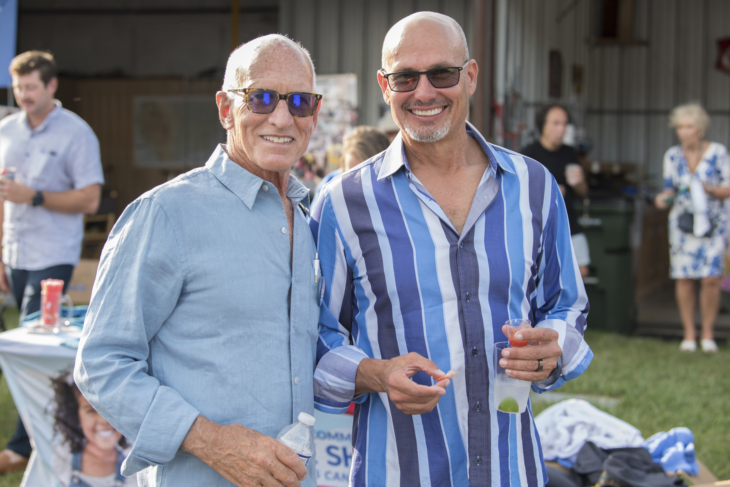 Jonathan Glynn and Kent Feuerring at the 4th Annual Hamptons Artists for Haiti Benefit Bash on August 7.          Joelle Wiggins